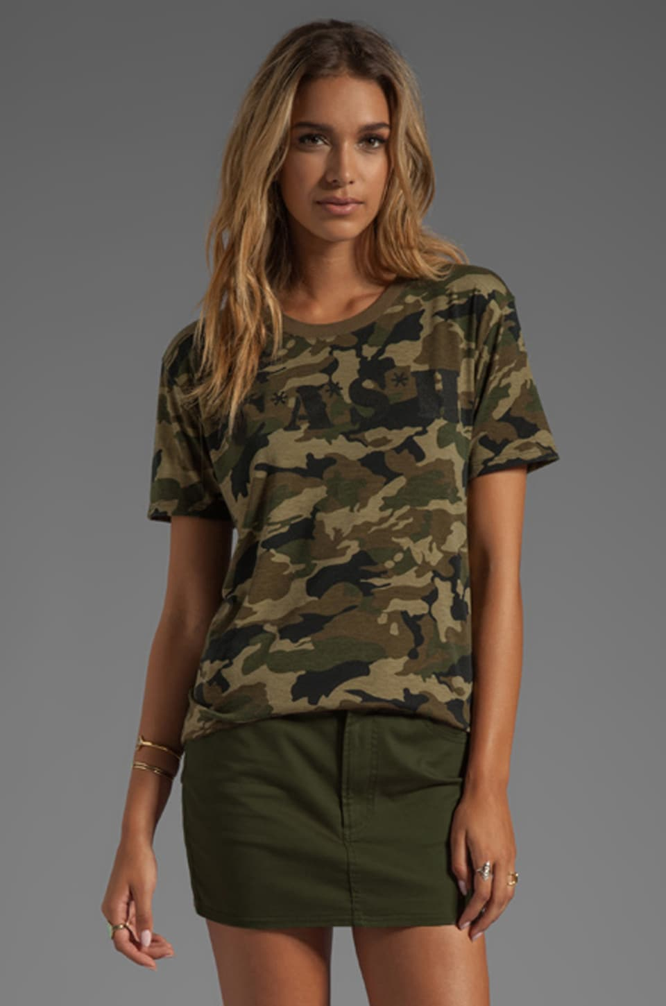 Lovers + Friends CASH Relaxed Tee in Camo