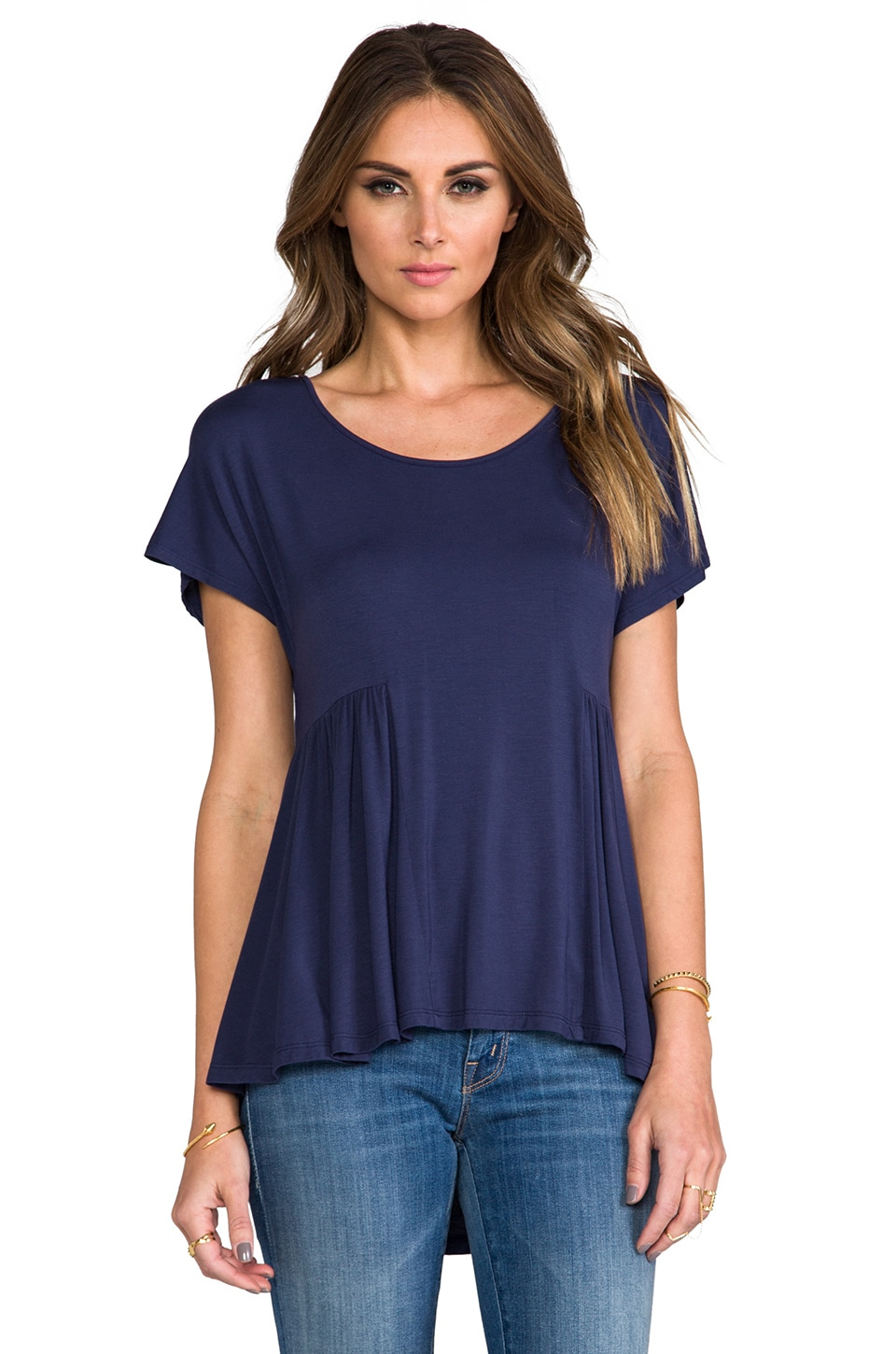 Lovers + Friends Take Me There Top in Navy