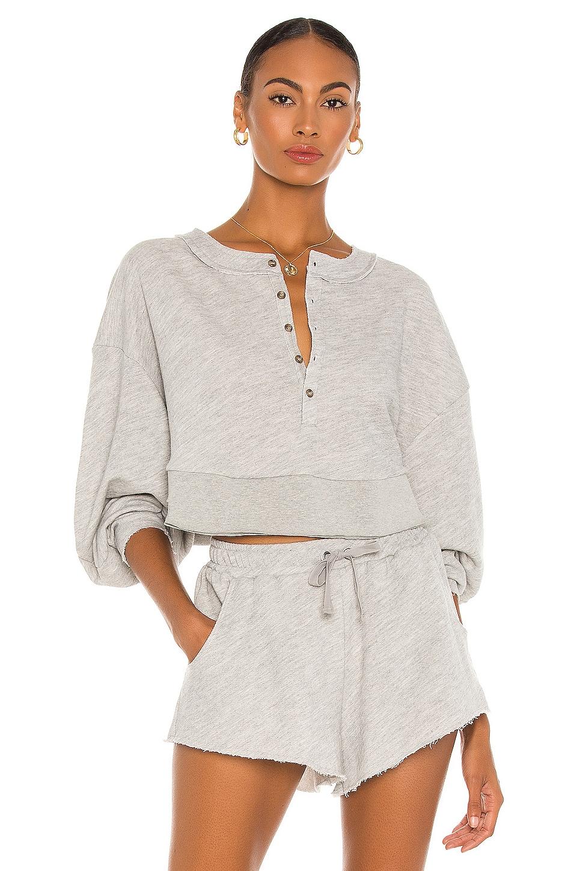 Oversized Henley Pullover