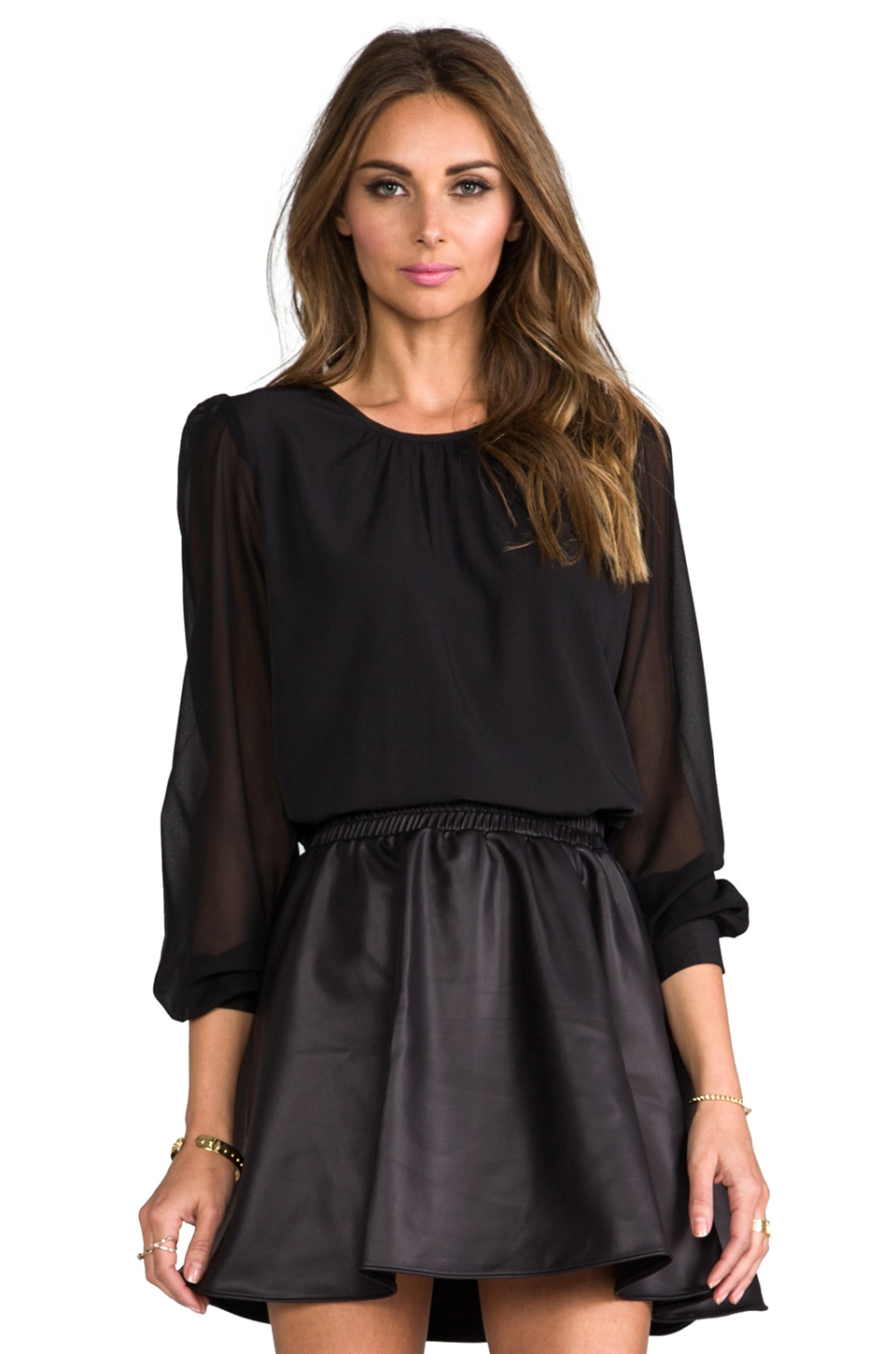 Lovers + Friends Mayfair Top in Black