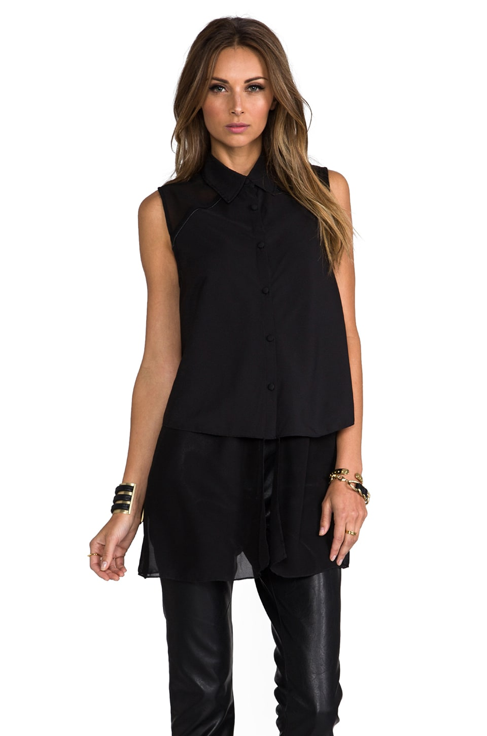 Lovers + Friends Camden Top in Black
