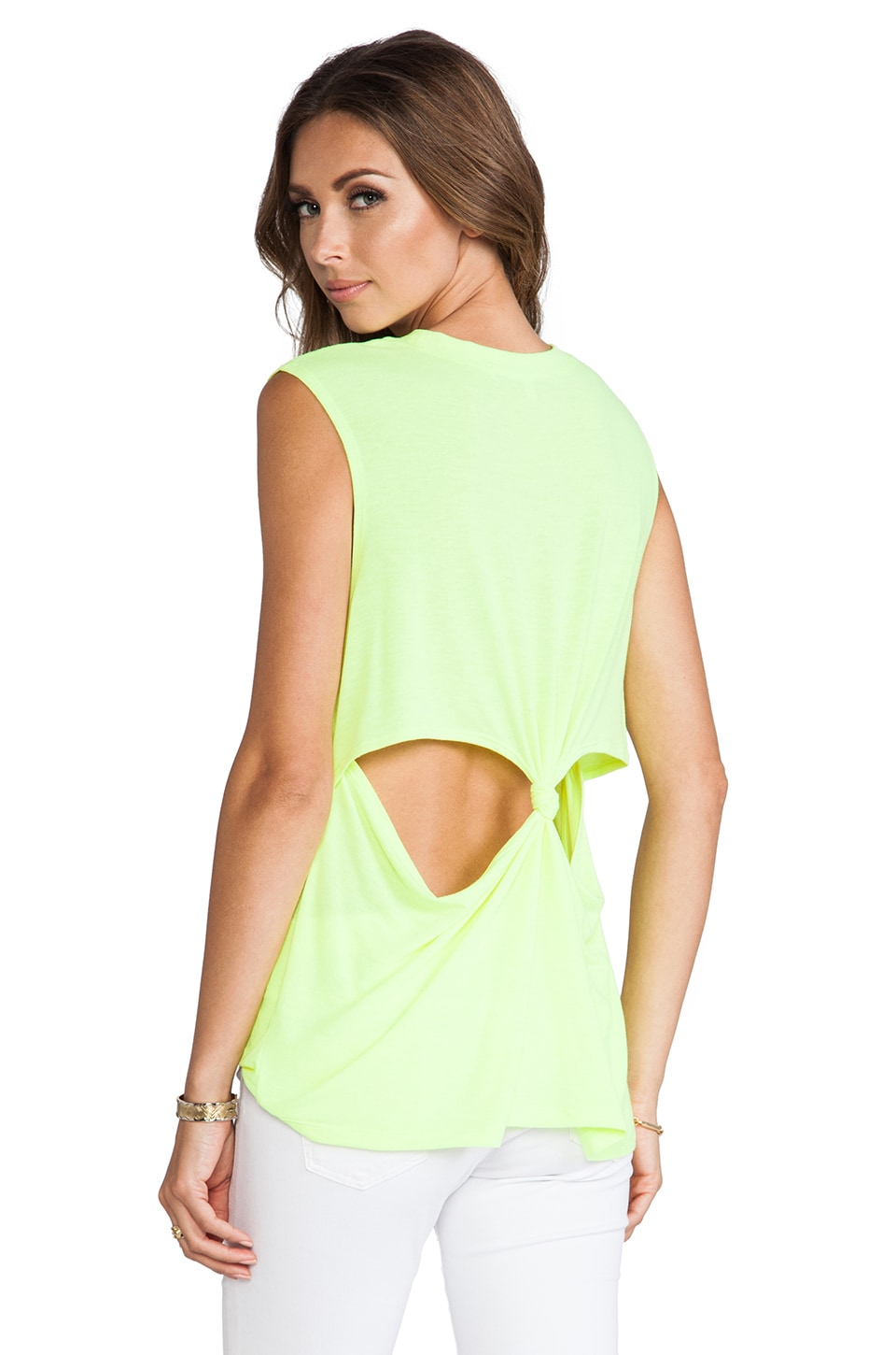 Lovers + Friends She's a Women Tank in Neon Yellow