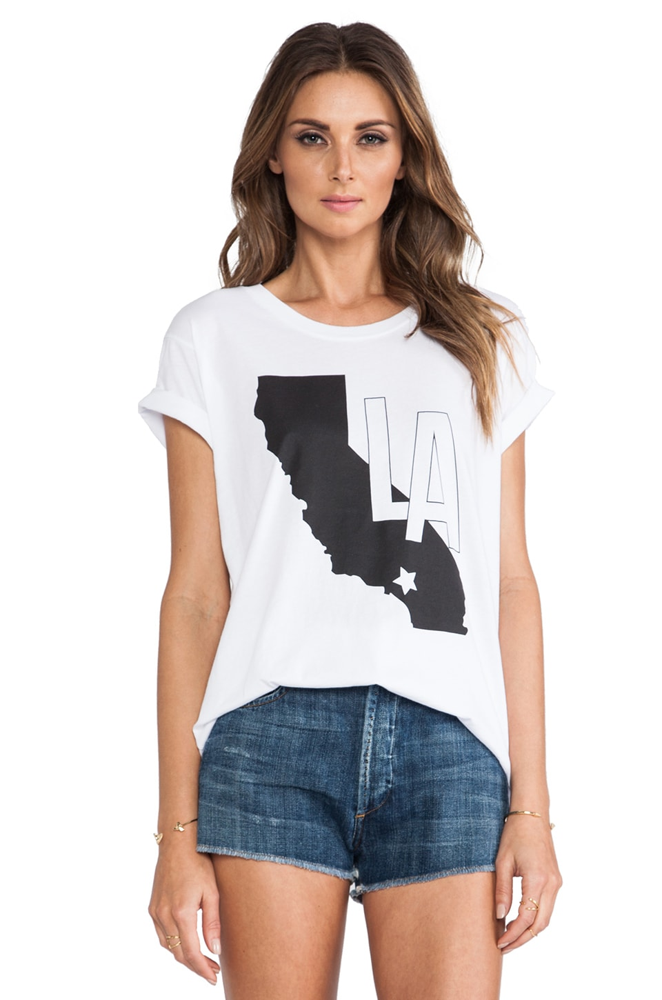 Lovers + Friends LA California Tee in White
