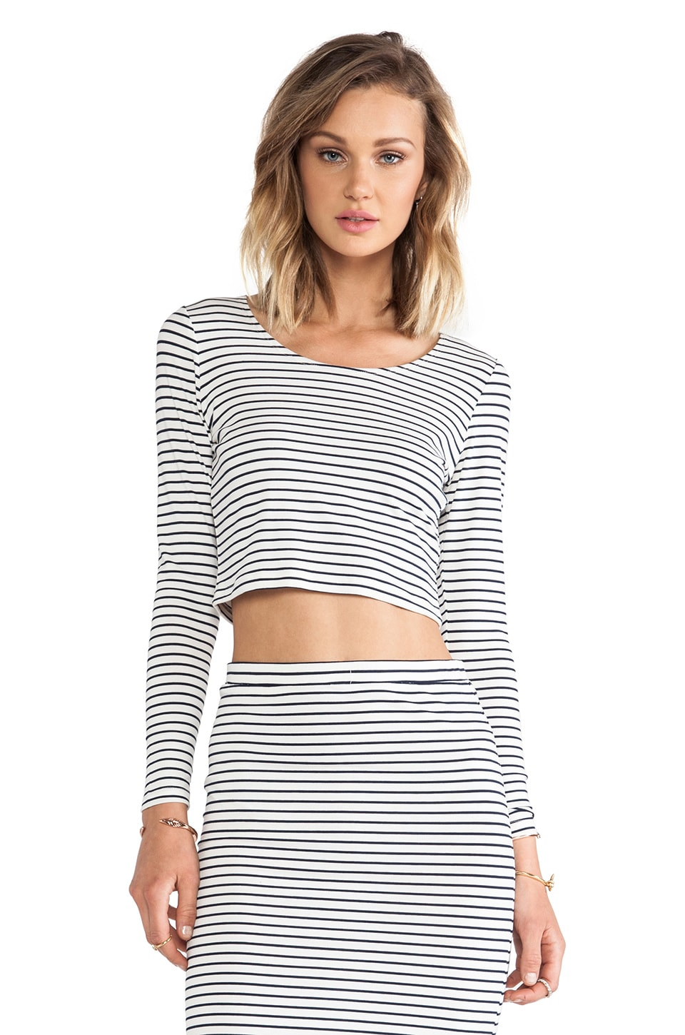 Lovers + Friends Say It Isn't So Crop Top in Stripe
