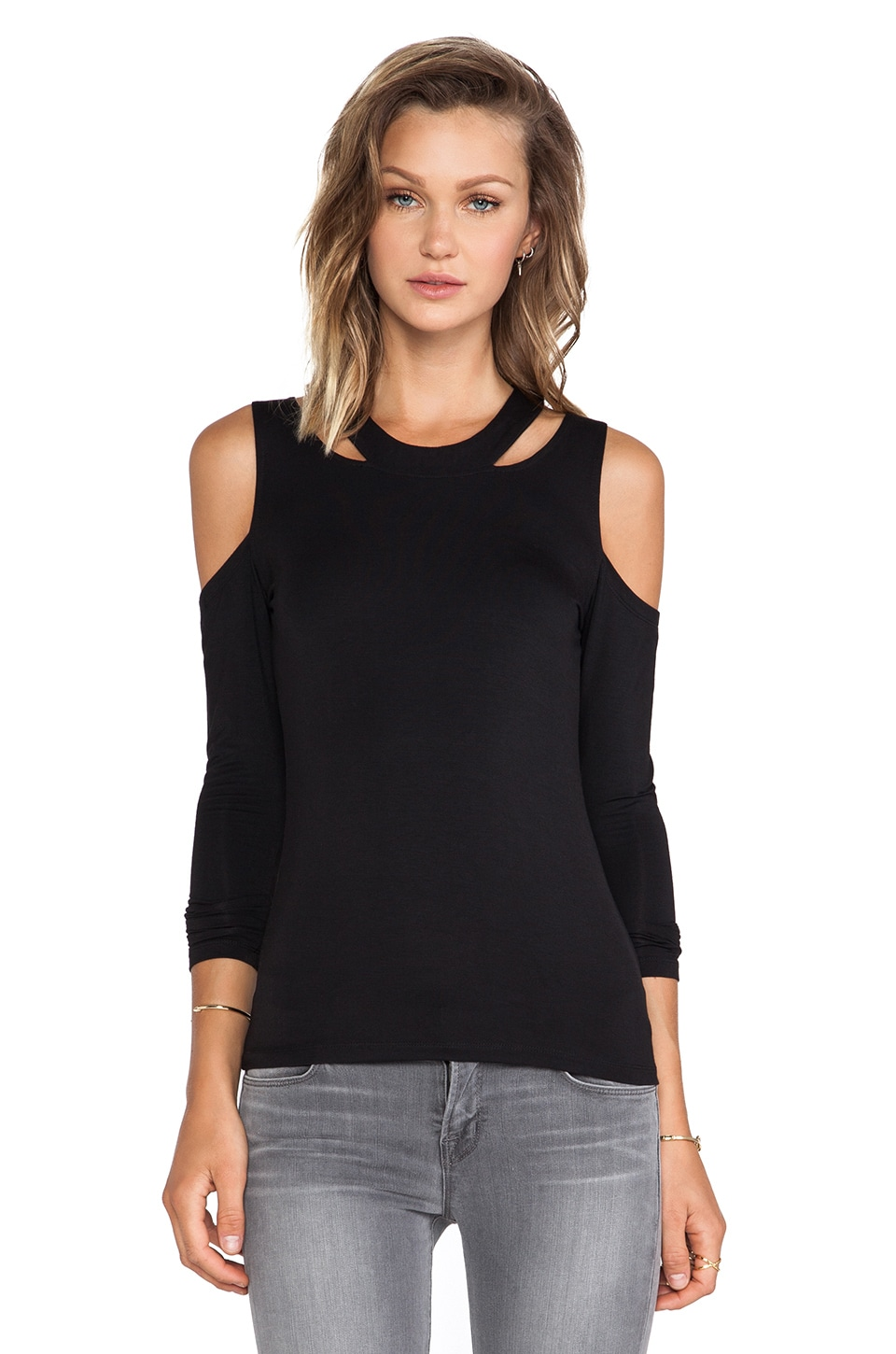 Lovers + Friends Late Night Craving Top in Black