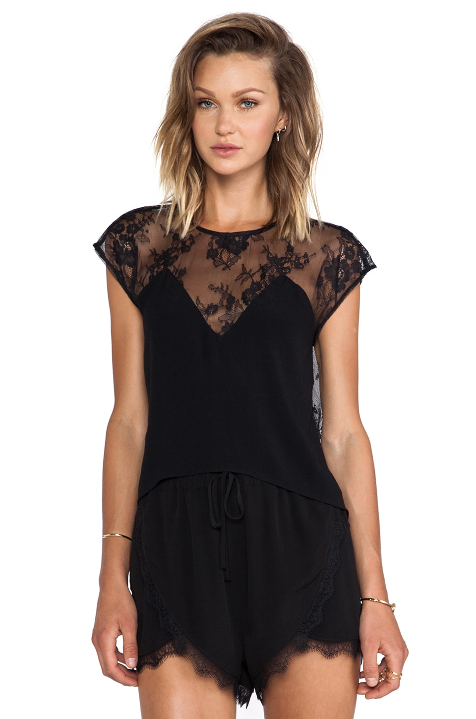 Lovers + Friends Emrey Blouse in Black