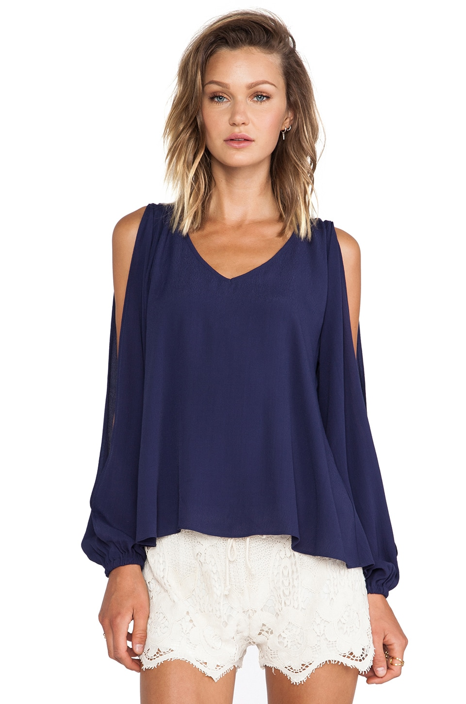 Lovers + Friends Daydream Blouse in Sapphire