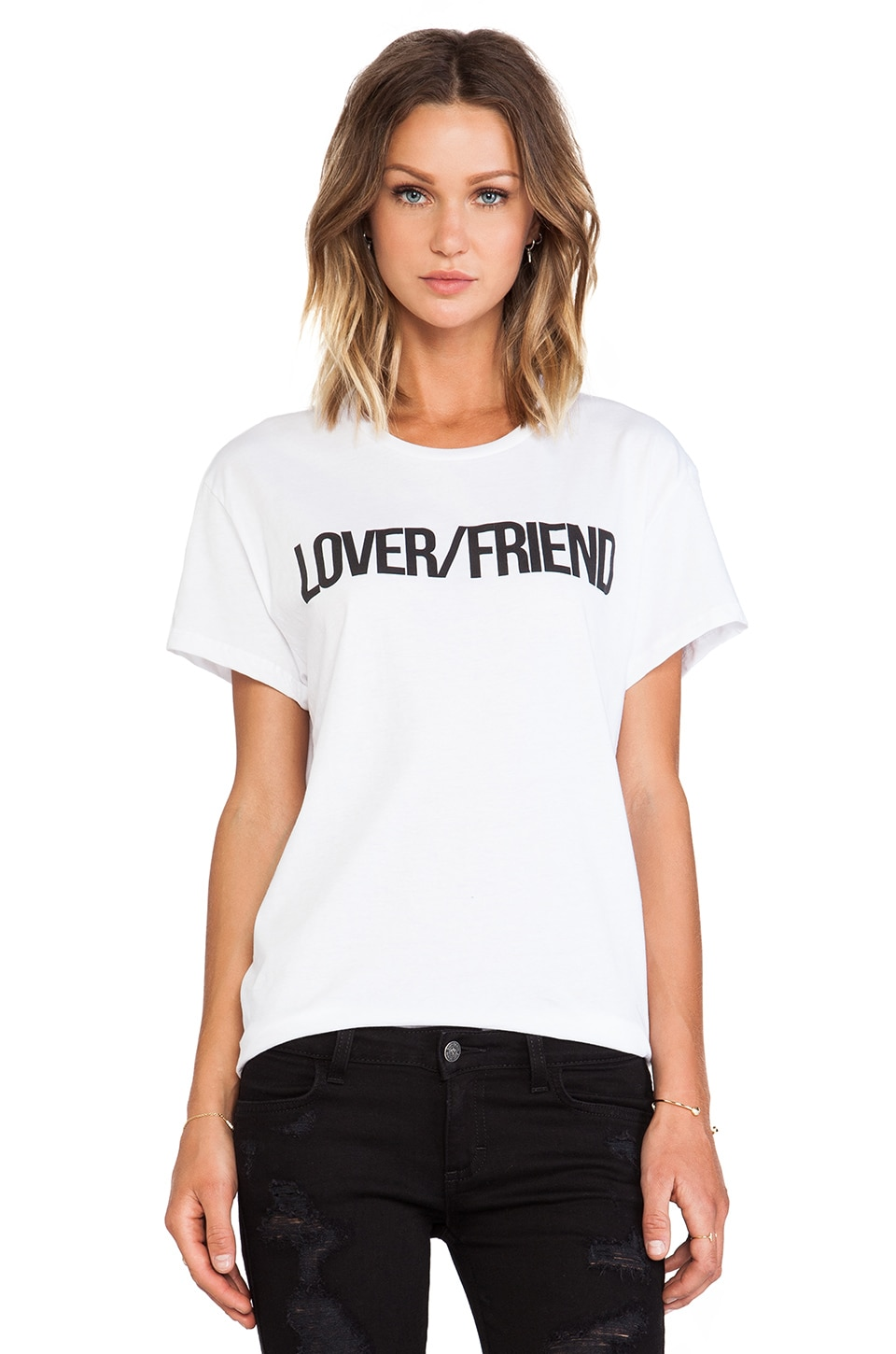 Lovers + Friends Lovers/Friends Basic Tee in White