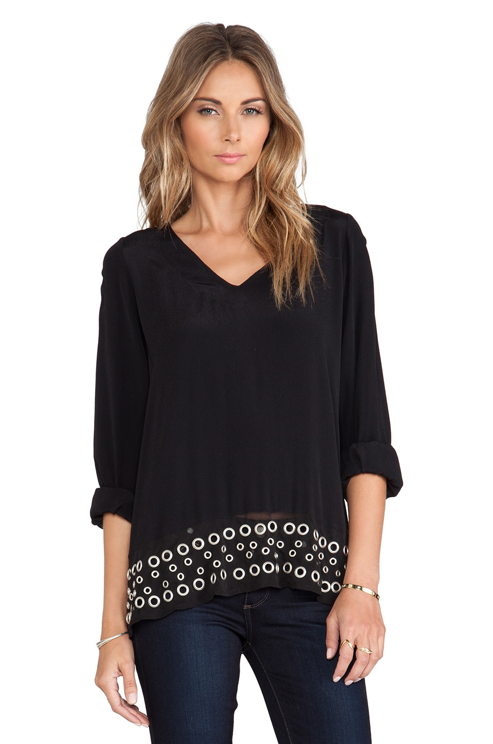 Lovers + Friends Sweet Kiss Blouse in Black