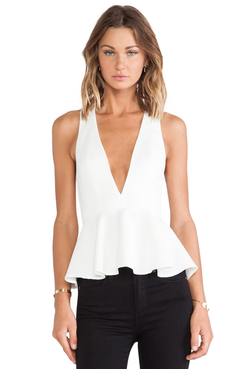 Lovers + Friends Bloom Blouse in Ivory