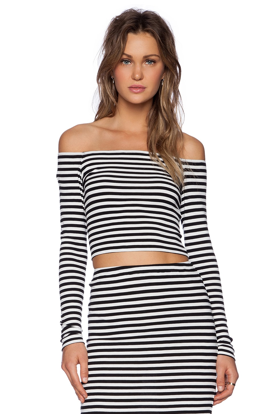 Lovers + Friends Megan Top en Black Stripe