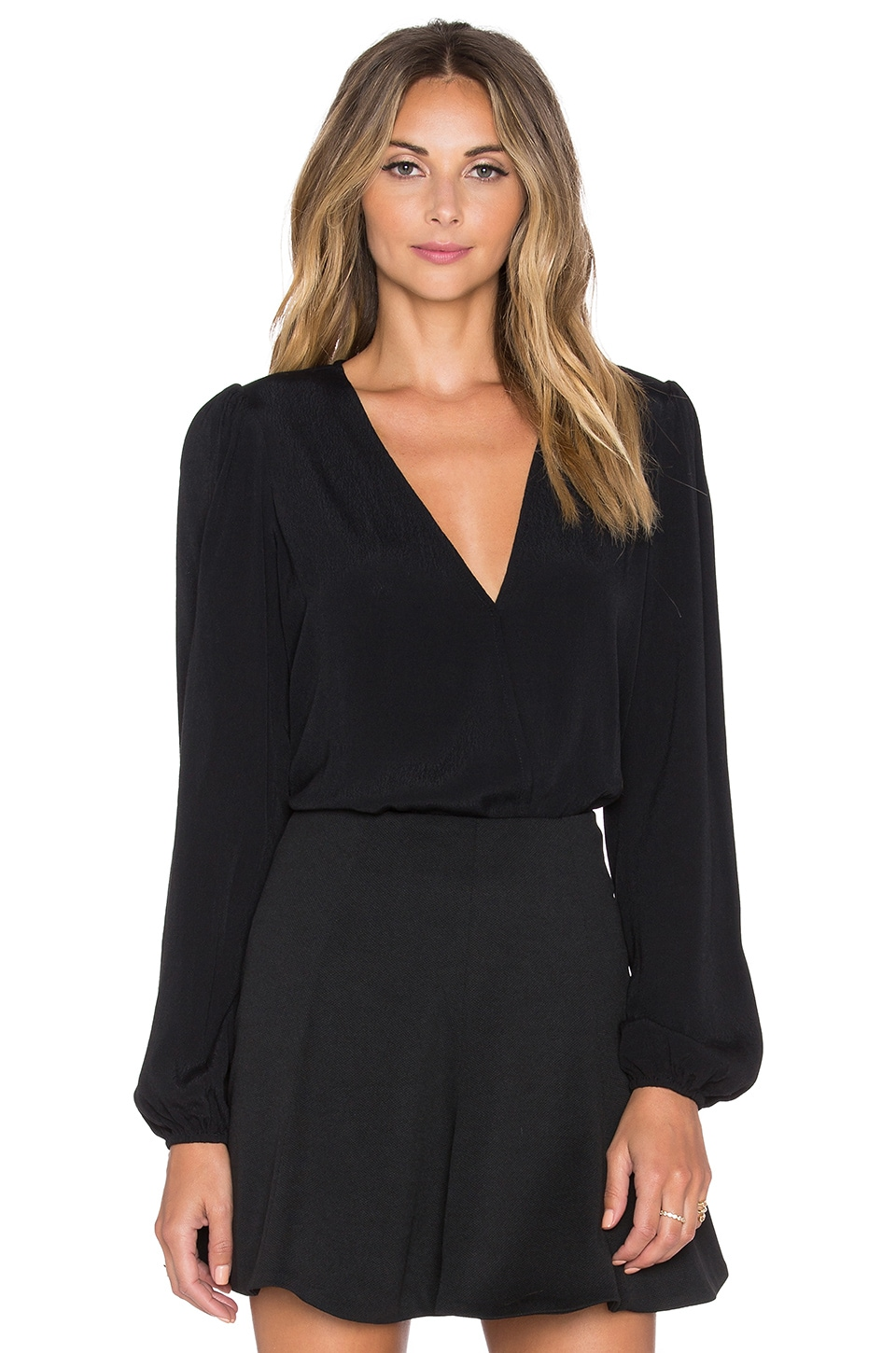Lovers + Friends x REVOLVE Vision Long Sleeve Bodysuit in Black
