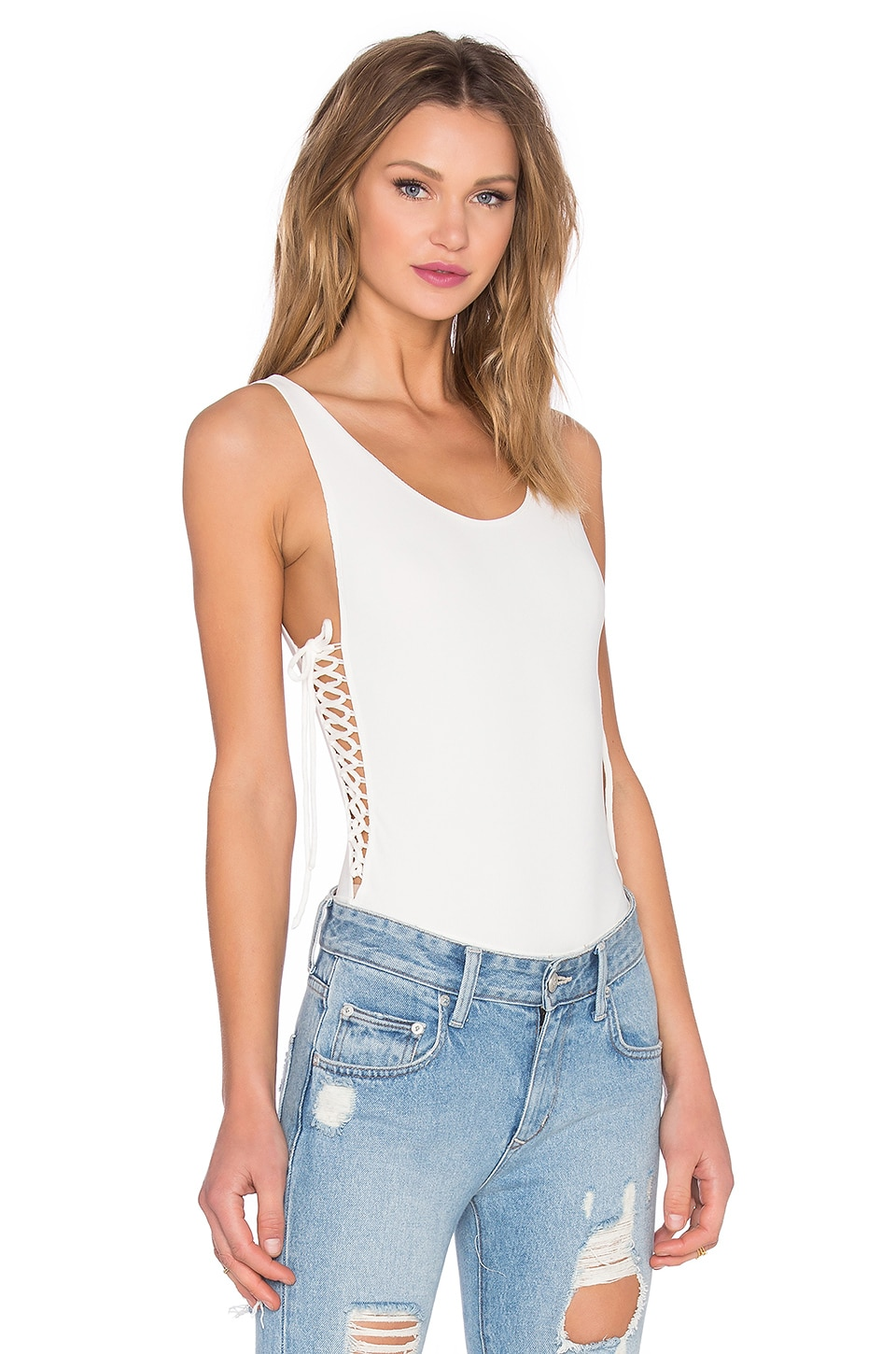 Lovers + Friends x REVOLVE Skin Deep Bodysuit in White