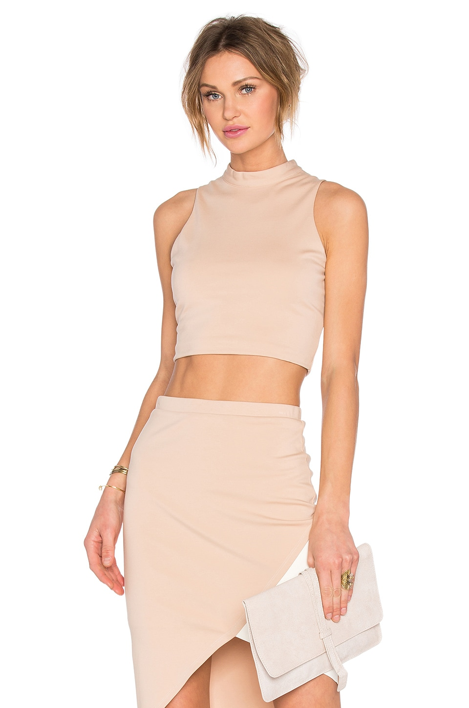Lovers + Friends x REVOLVE Mademoiselle Crop Top in Nude