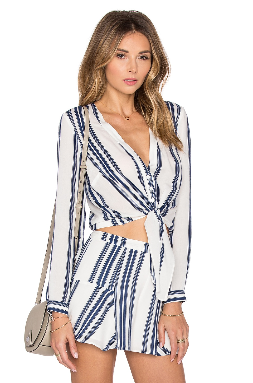 Lovers + Friends Carmine Top in Navy Stripe