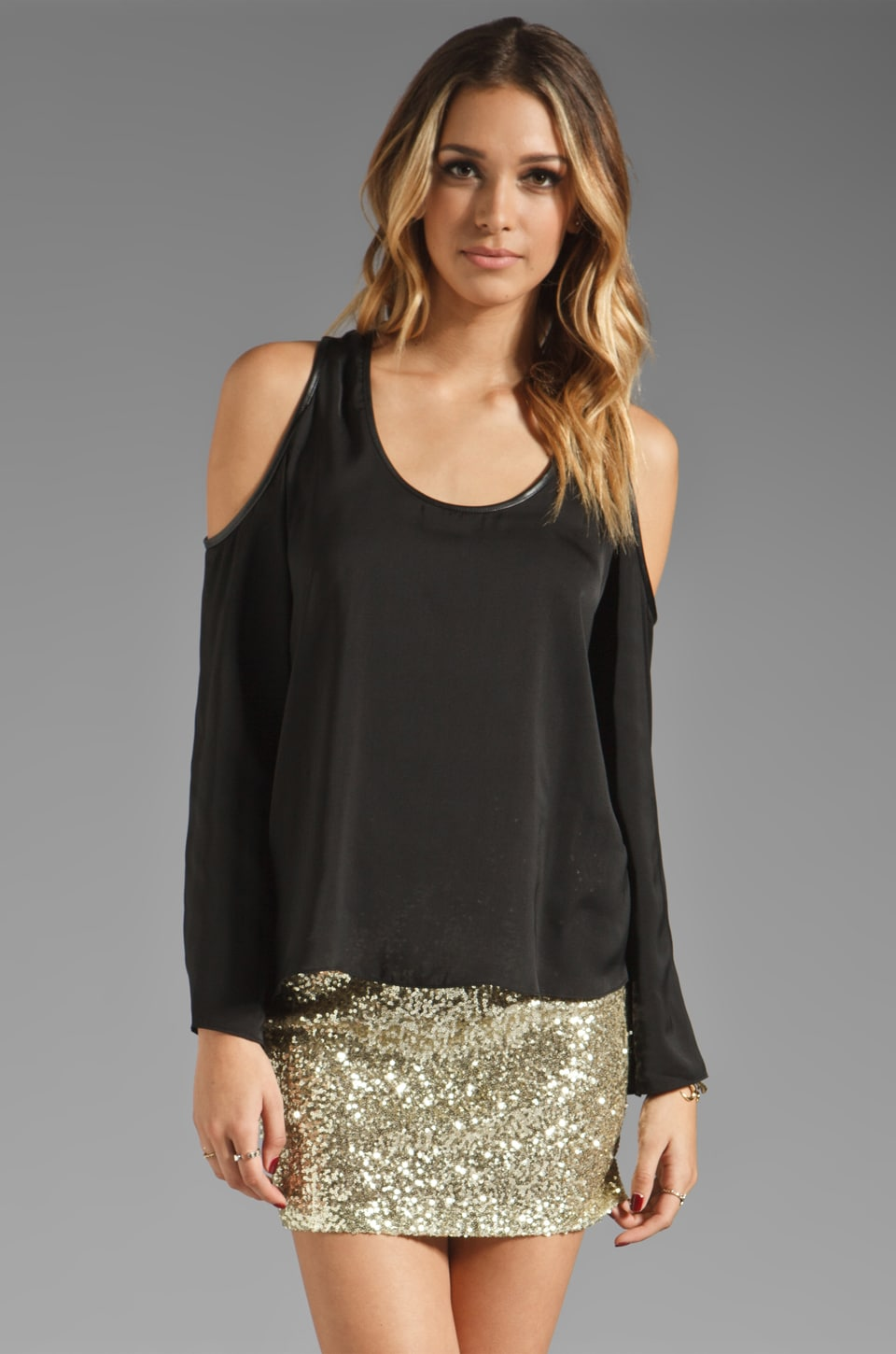 Lovers + Friends Stay Longer Blouse in Black