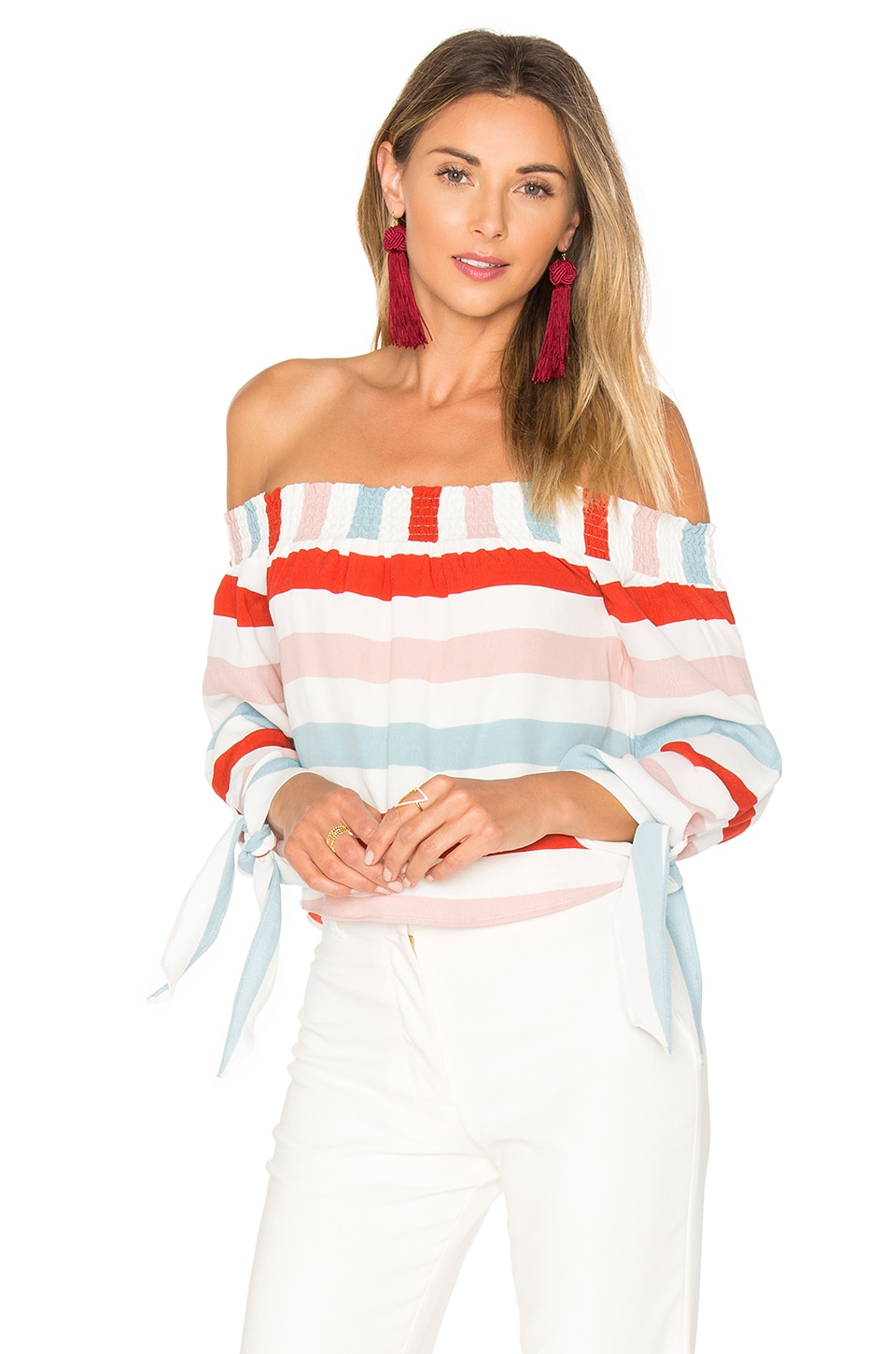 Lovers + Friends Dream Lover Top in Bold Stripe