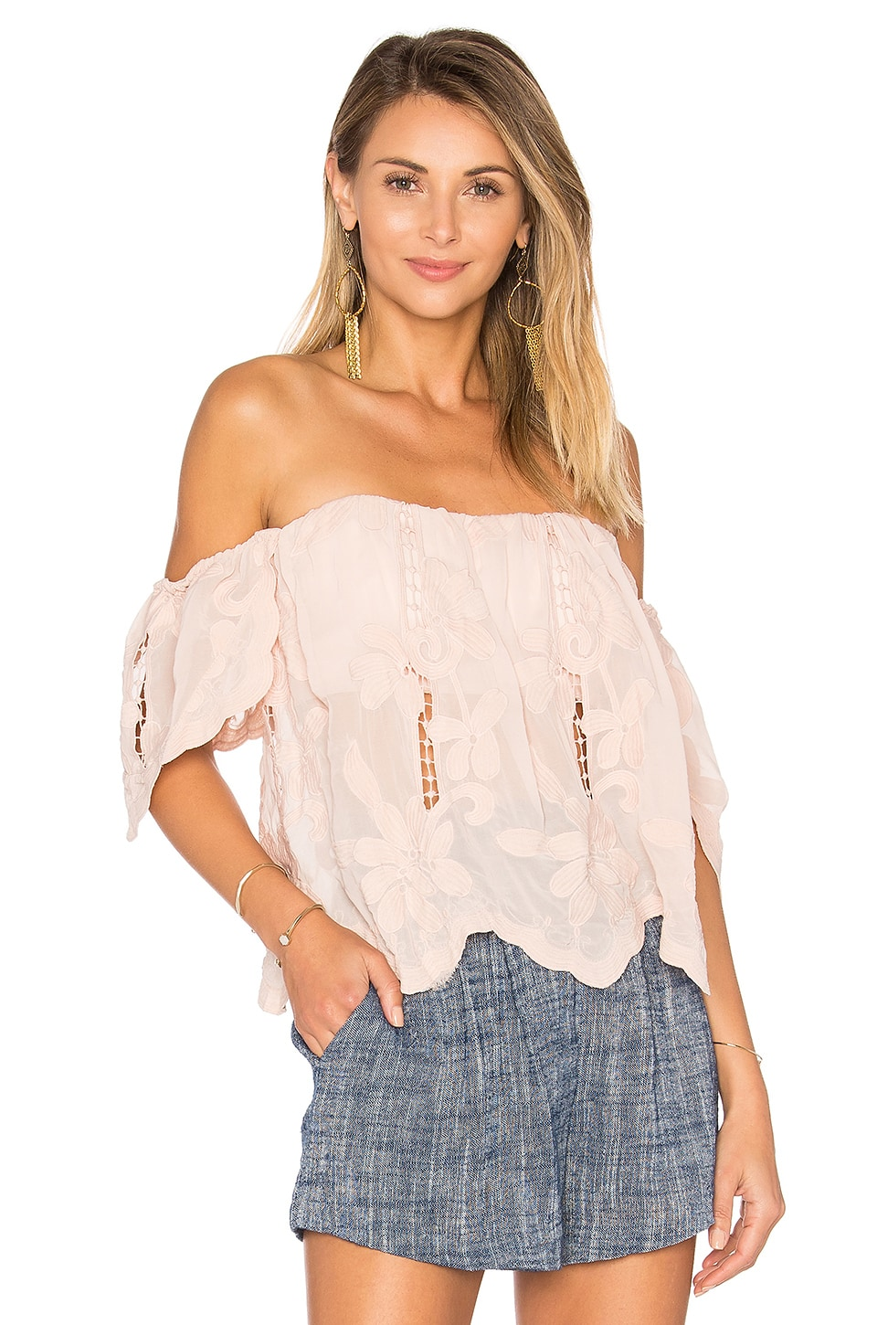 Lovers + Friends Life's A Beach Top in Nude