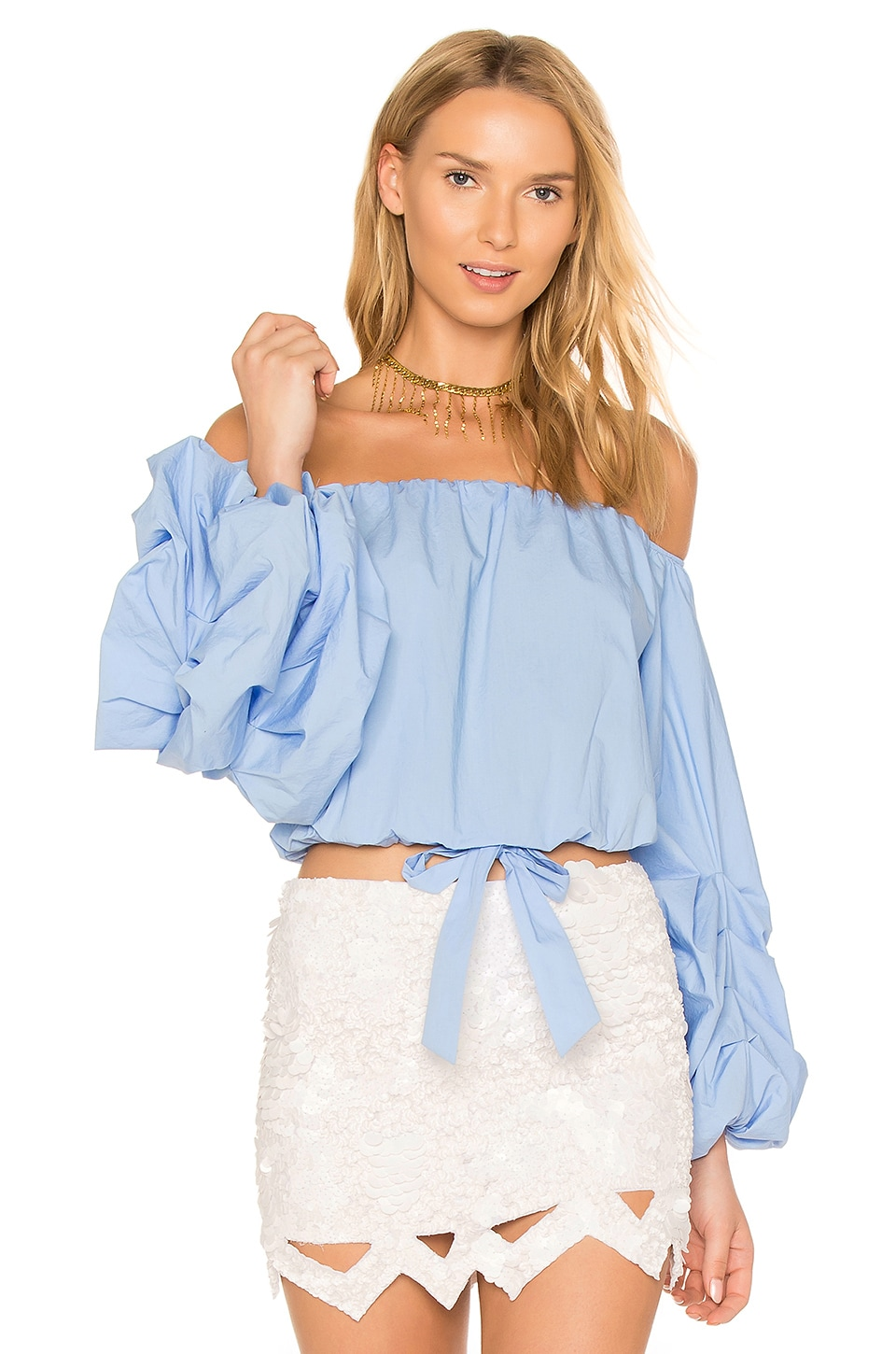 Lovers + Friends x REVOLVE Silas Top in Baby Blue