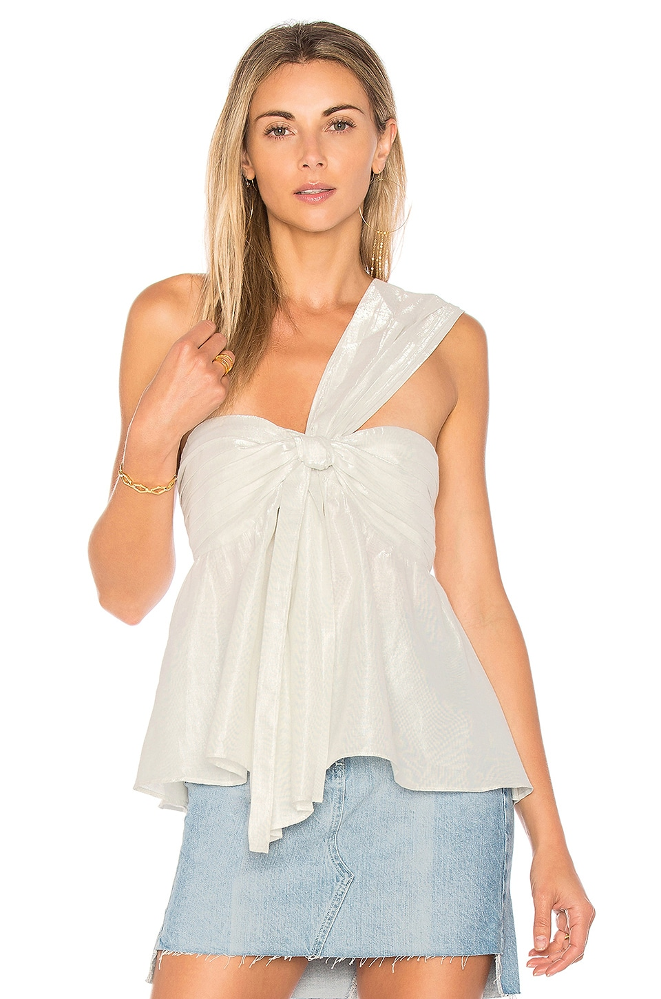 Lovers + Friends x REVOLVE Cruiser Top in Silver