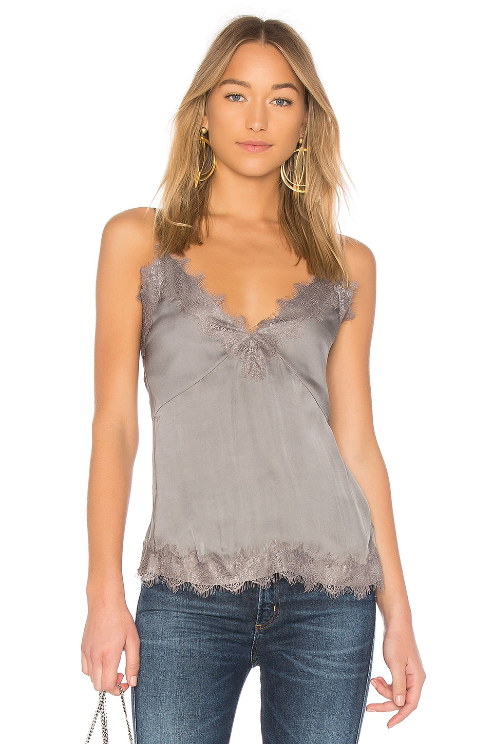 Lovers + Friends Emmy Tank in Charcoal