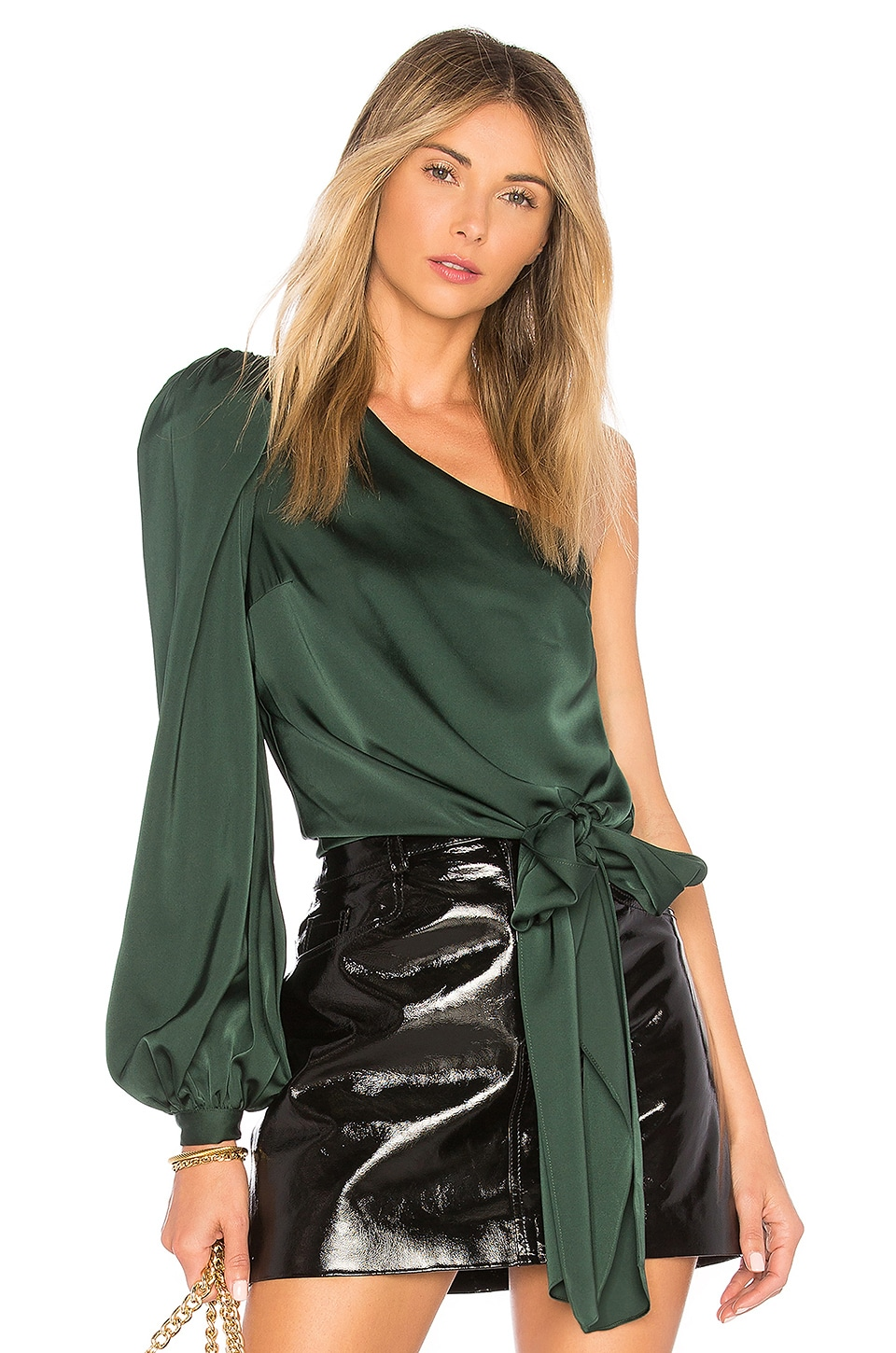 Lovers + Friends Kendall Blouse in Emerald