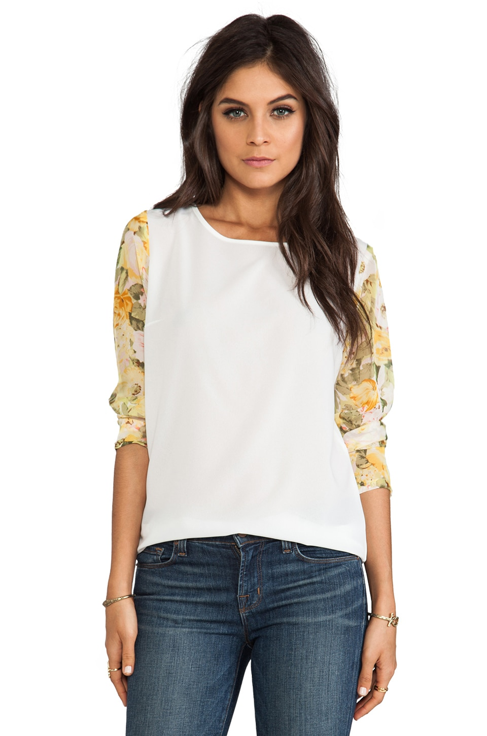 Lovers + Friends Glam Top in Floral