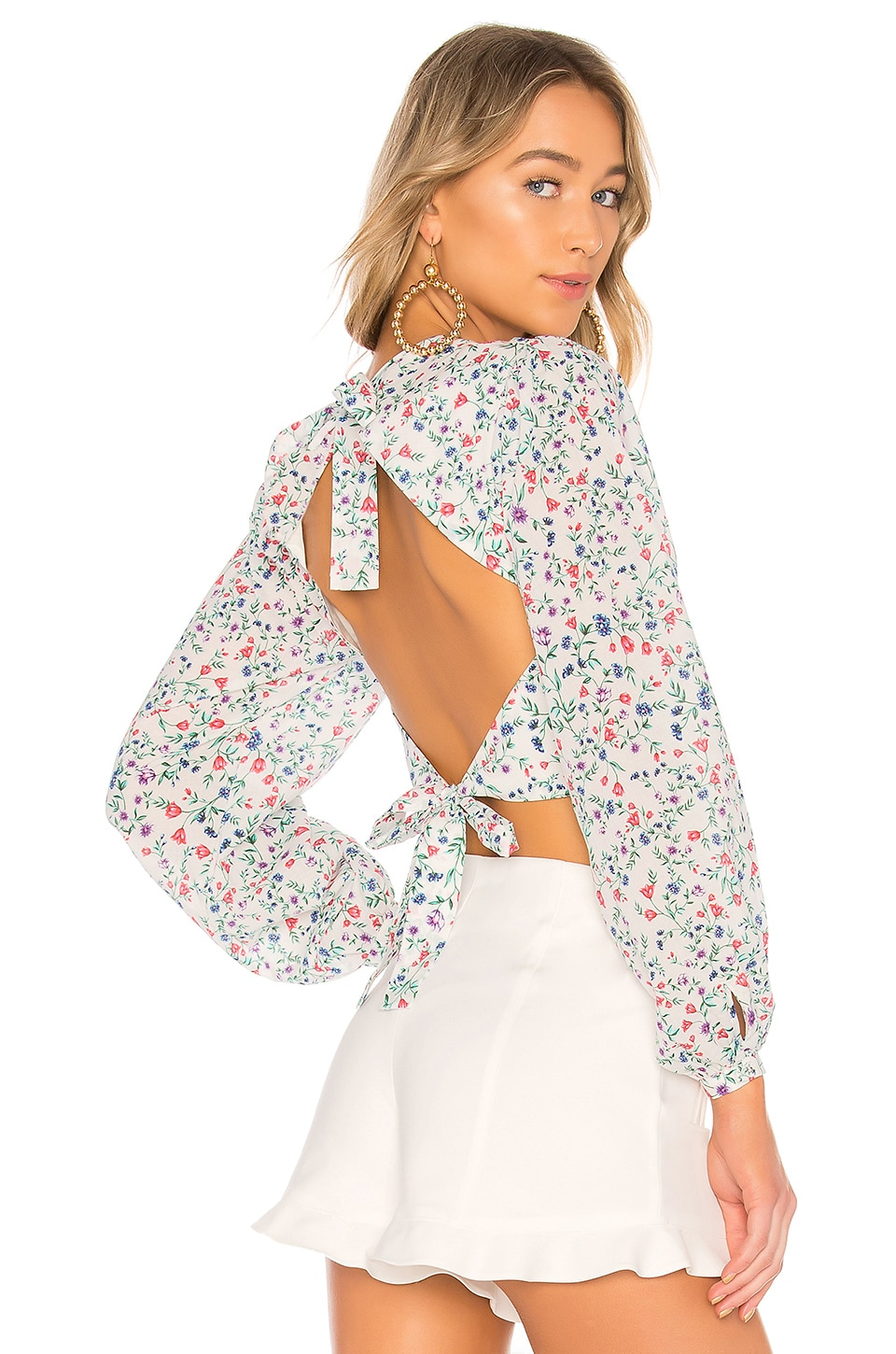 Lovers + Friends K Blouse in June Ditsy Floral
