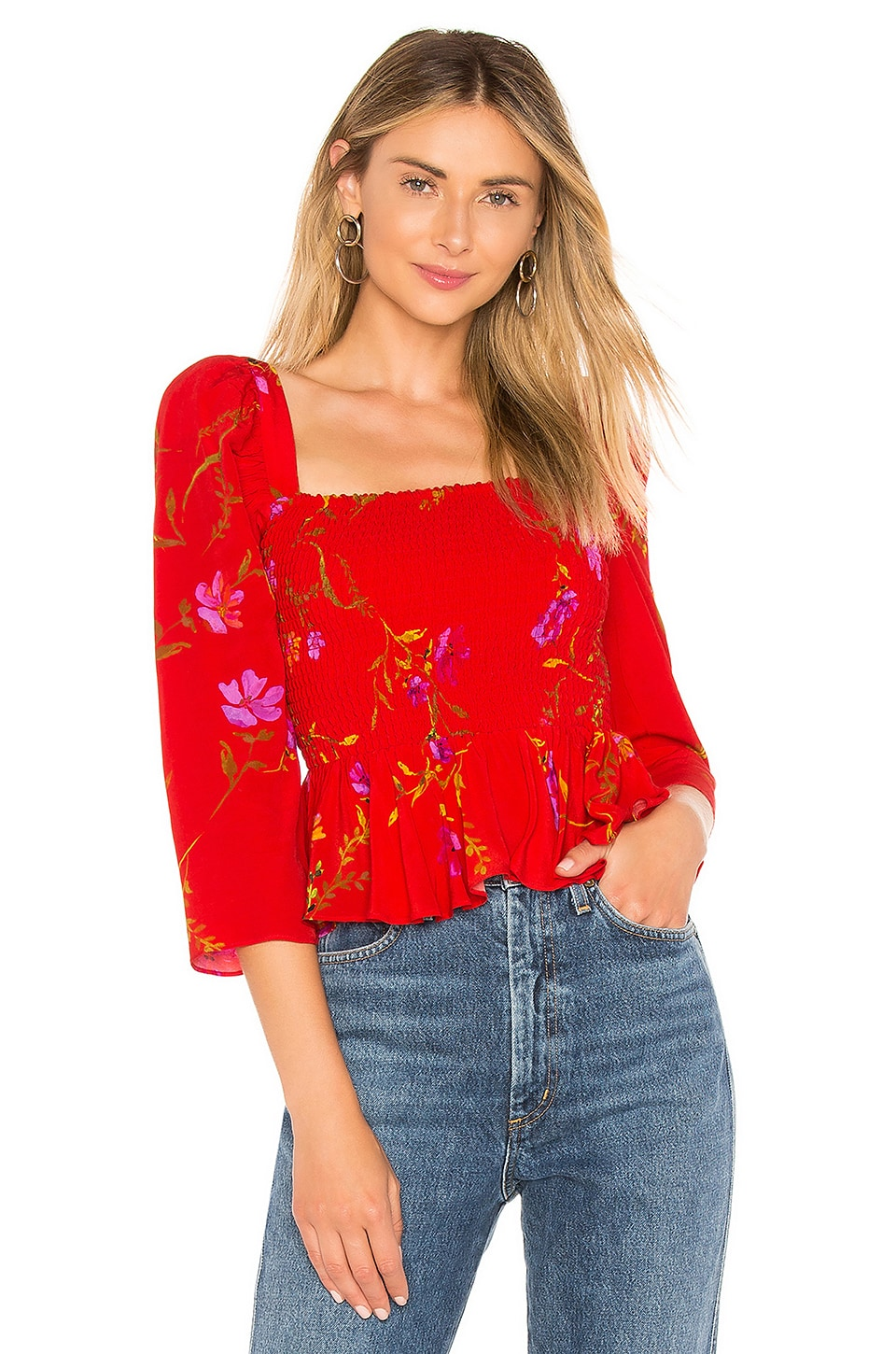 Lovers + Friends Faye Top in September Floral