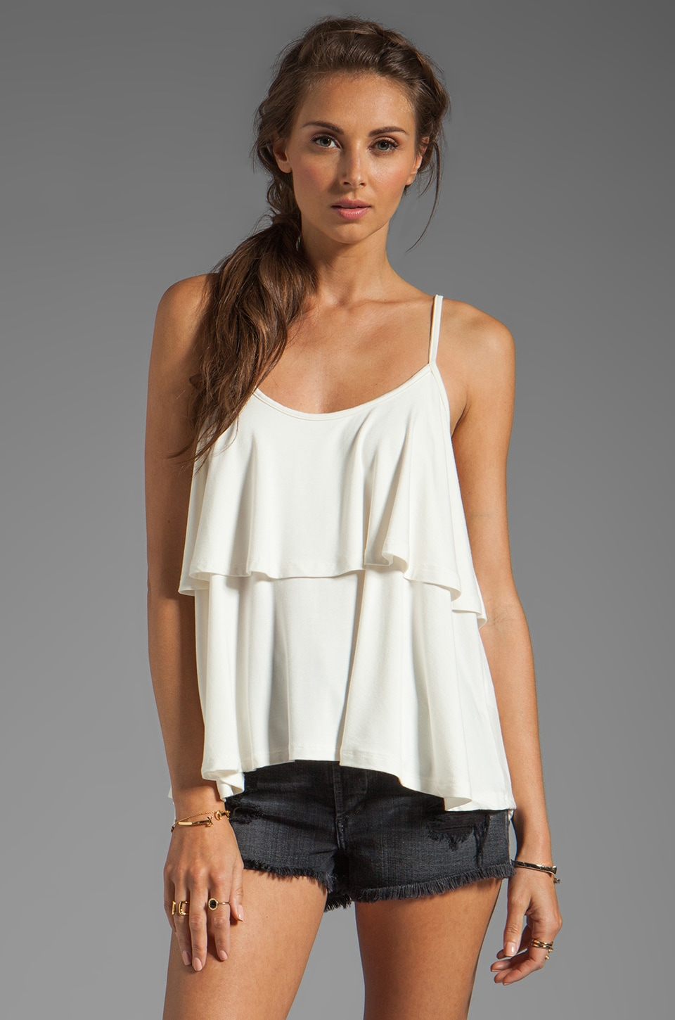Lovers + Friends Cruch On You Layered Tank in White