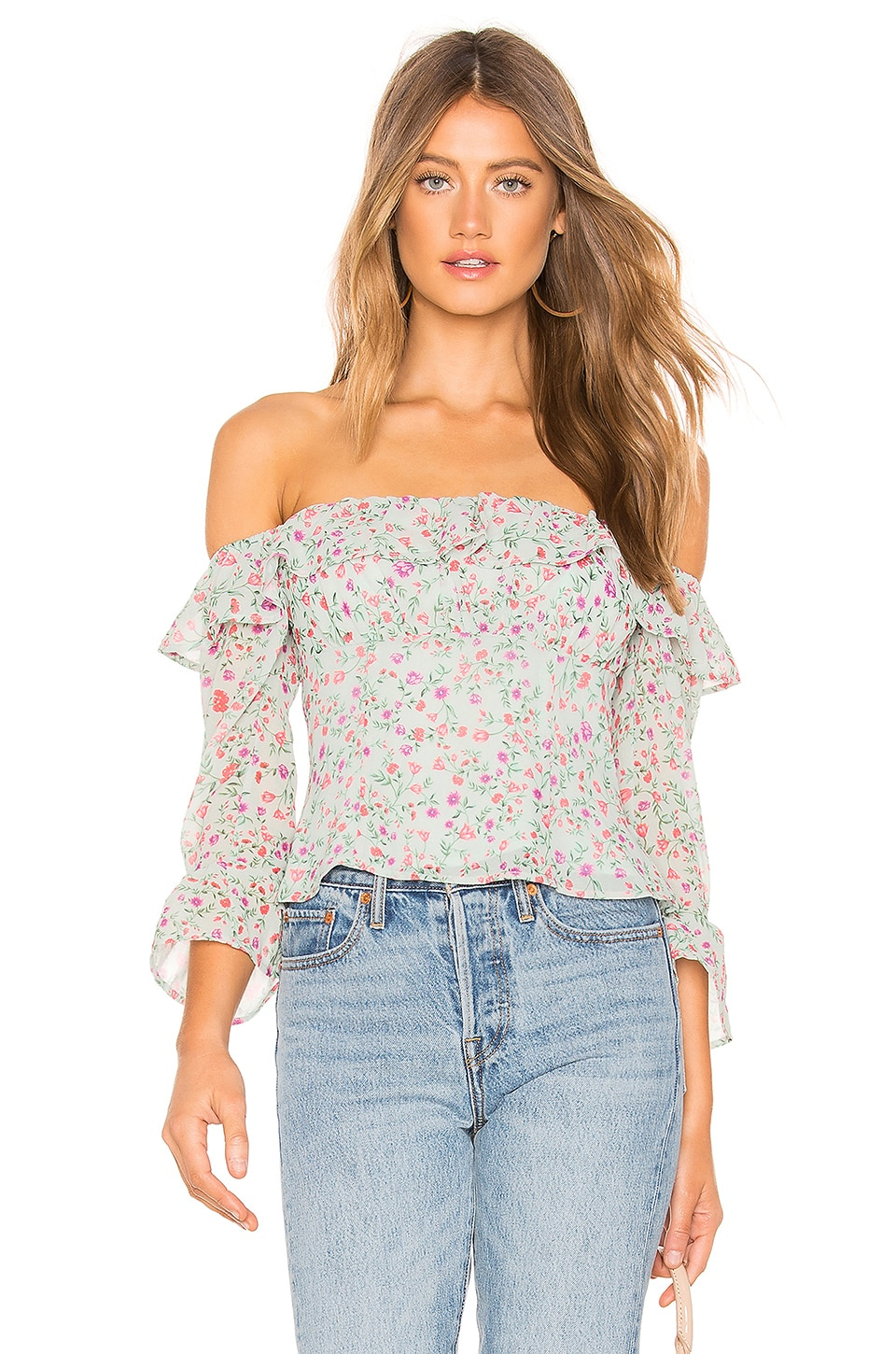 Lovers + Friends Farren Blouse in Chateau Floral