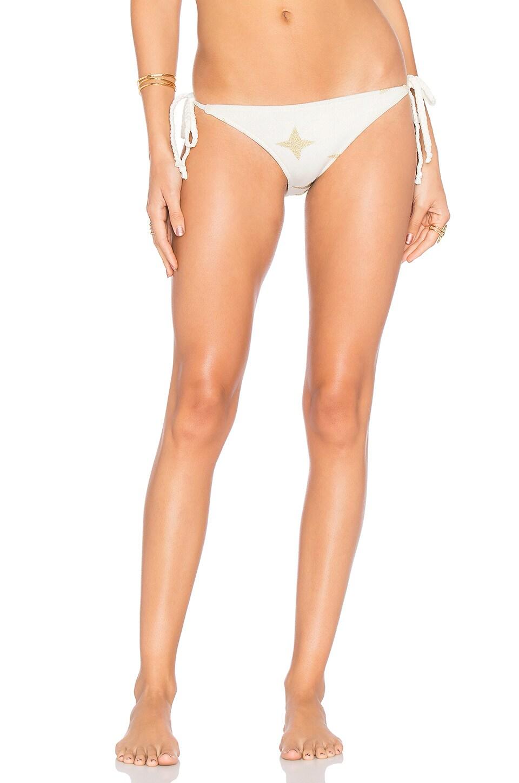 Lovers + Friends Splashin' Around Bikini Bottom in White & Gold