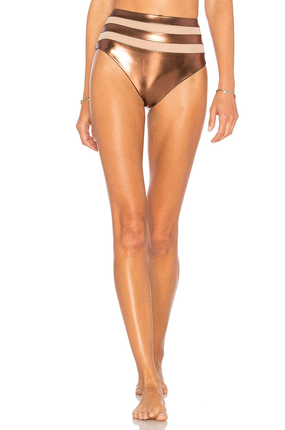 Lovers + Friends x REVOLVE In My Head High-Waisted Bottom in Metallic
