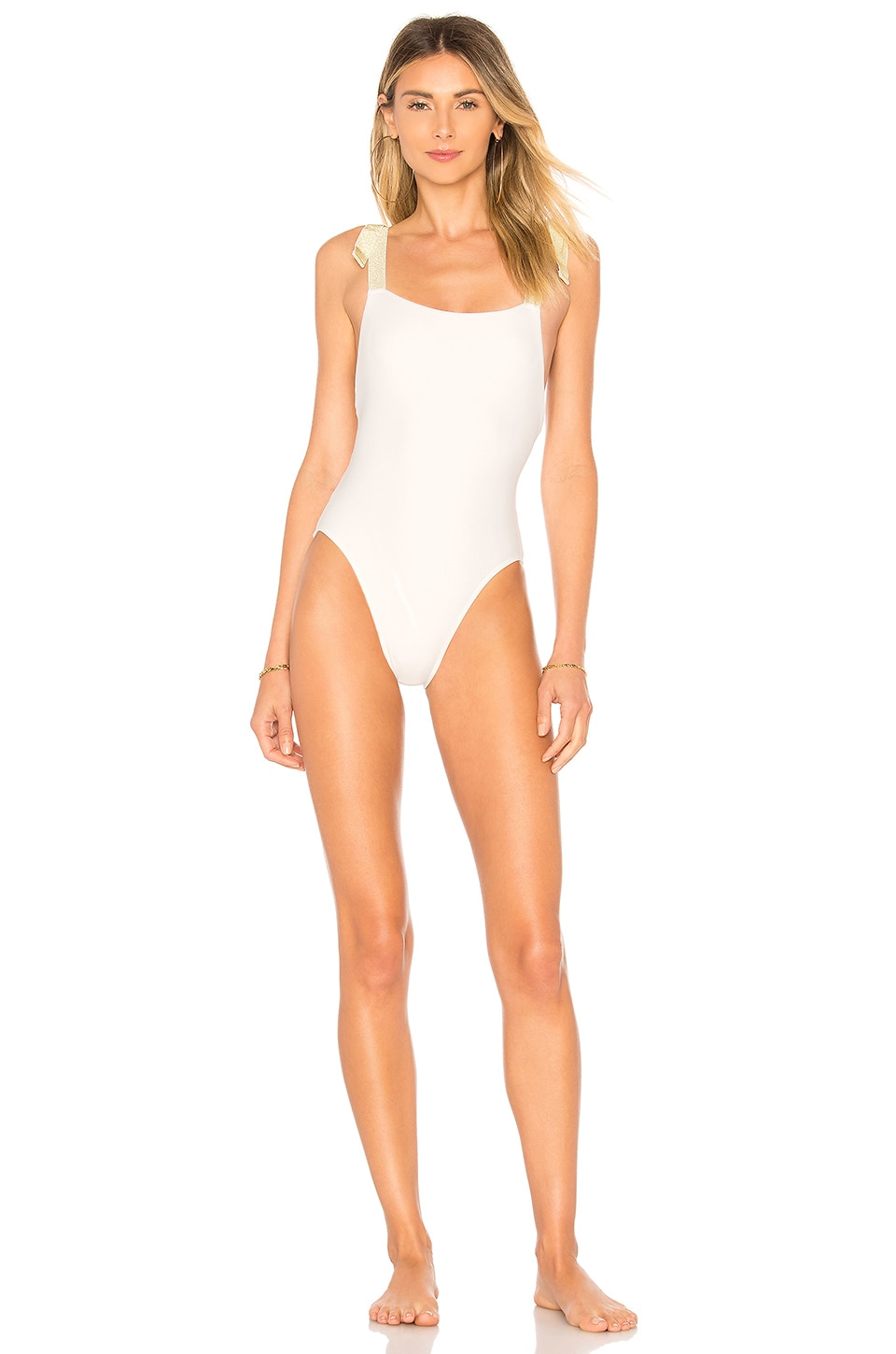 Lovers + Friends Shine Bright One Piece in White
