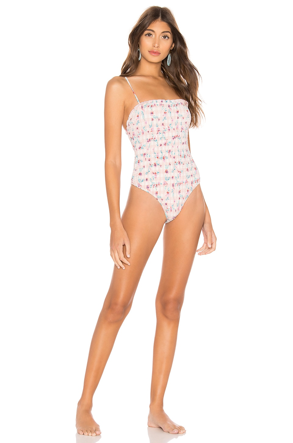 Lovers + Friends Mikko One Piece in Gingham Floral