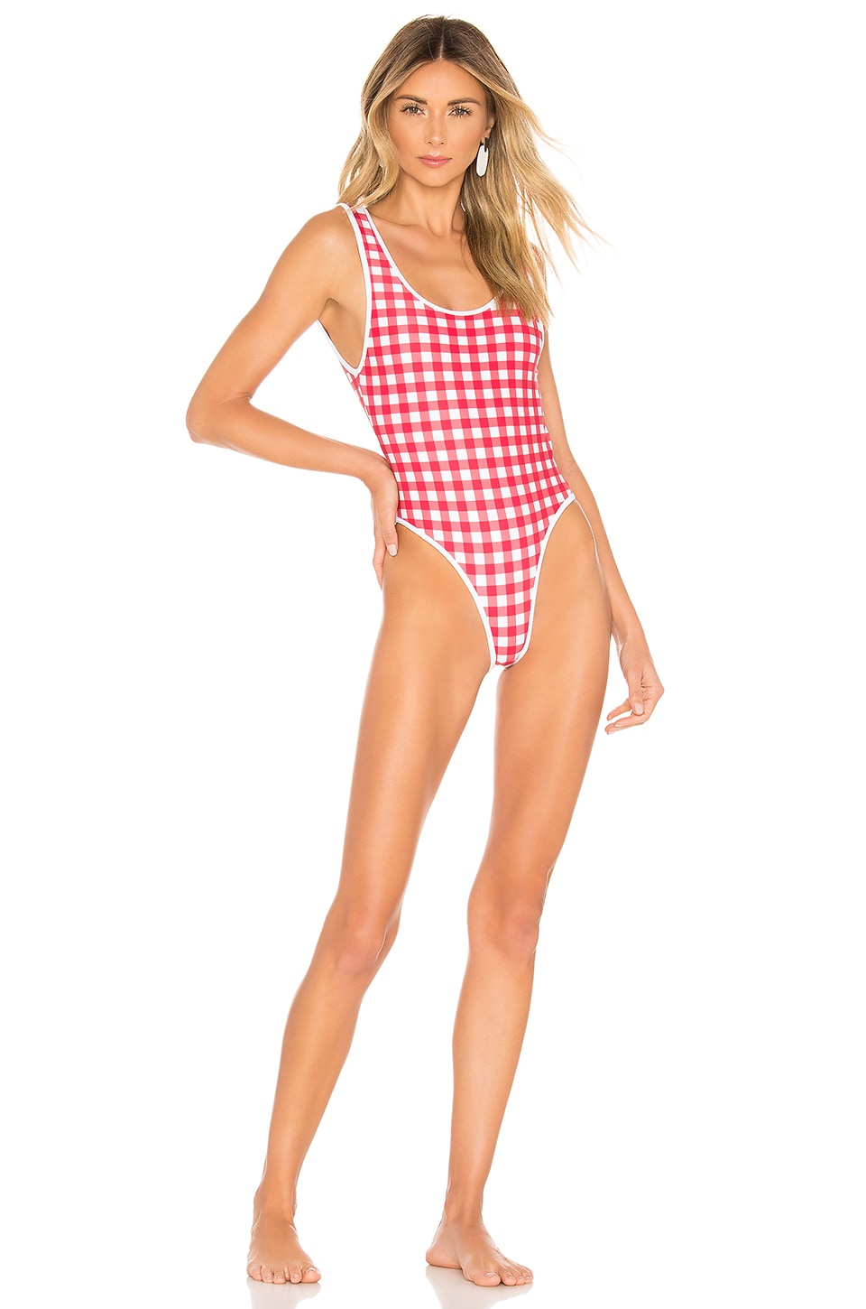 Lovers + Friends Good Times One Piece in Red Gingham