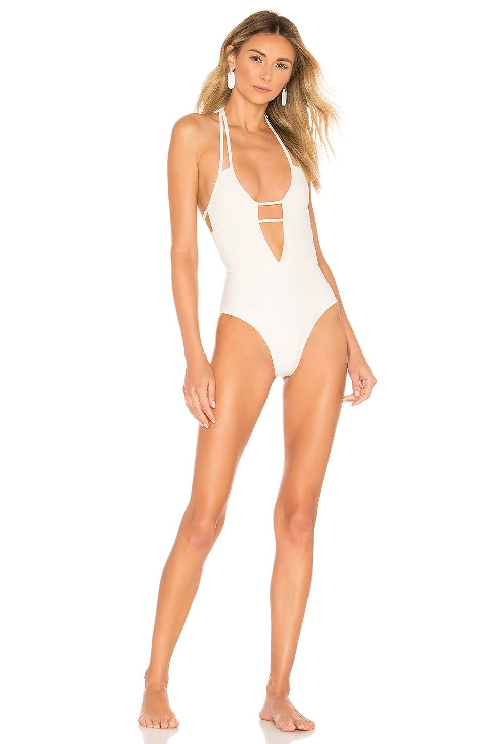 Lovers + Friends Stunna One Piece in Ivory