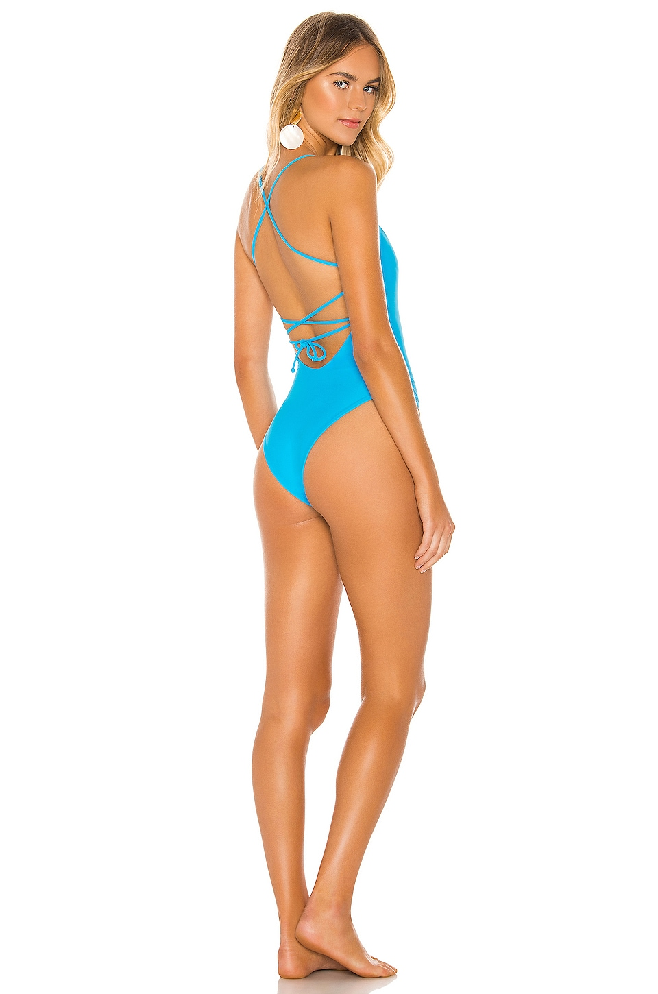 Lovers + Friends Evros One Piece in Bright Blue