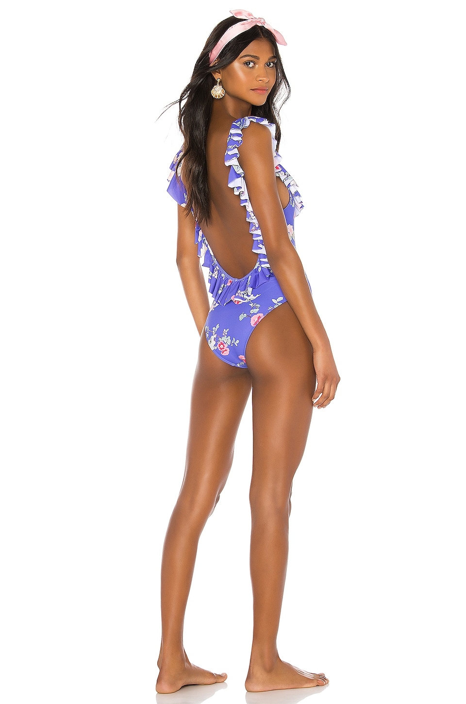 Lovers + Friends Flutter By One Piece in Blue Floral