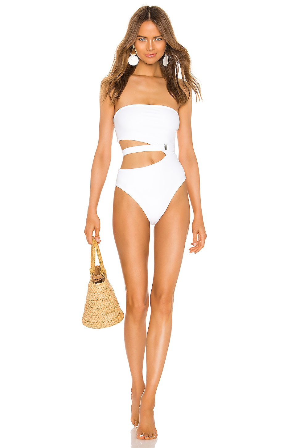 Lovers + Friends American Girl One Piece in White