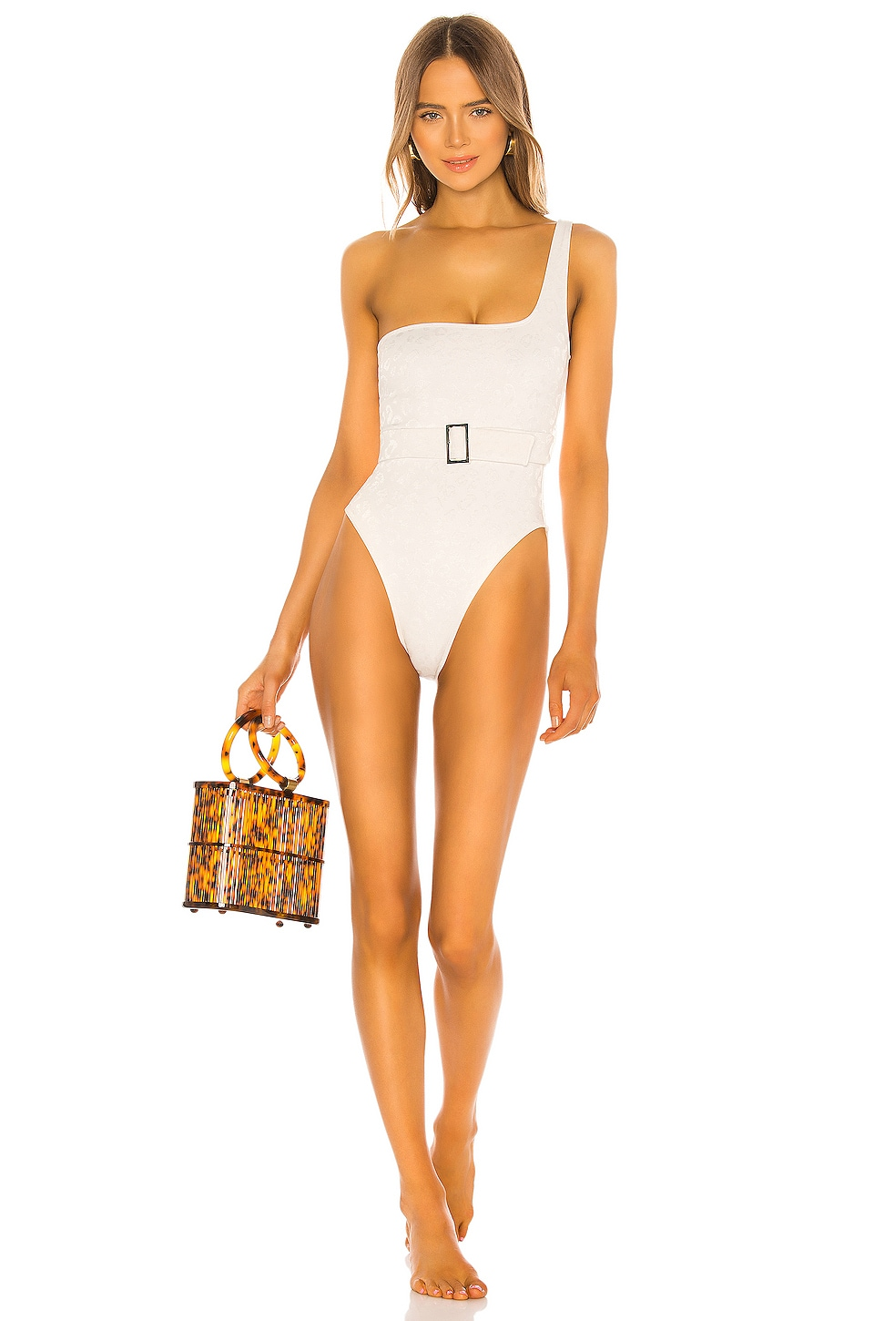 Lovers + Friends Ames One Piece in White Jag