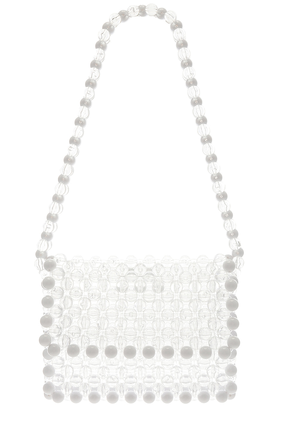 Lovers + Friends Thom Beaded Purse in Clear