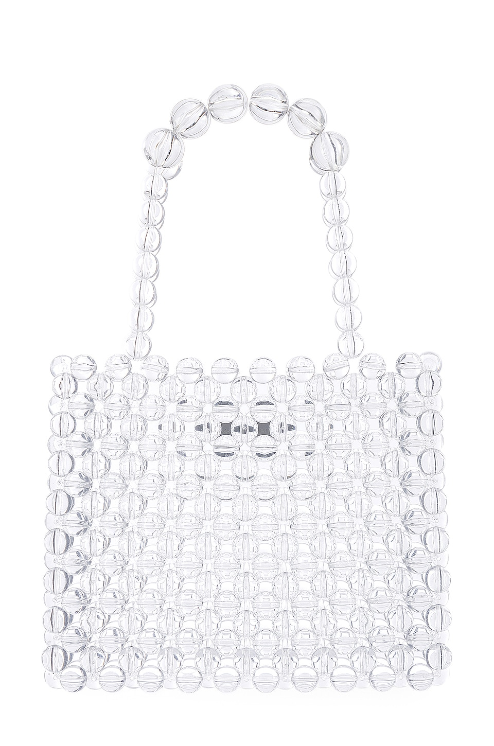 Lovers + Friends Carrie Beaded Purse in Clear