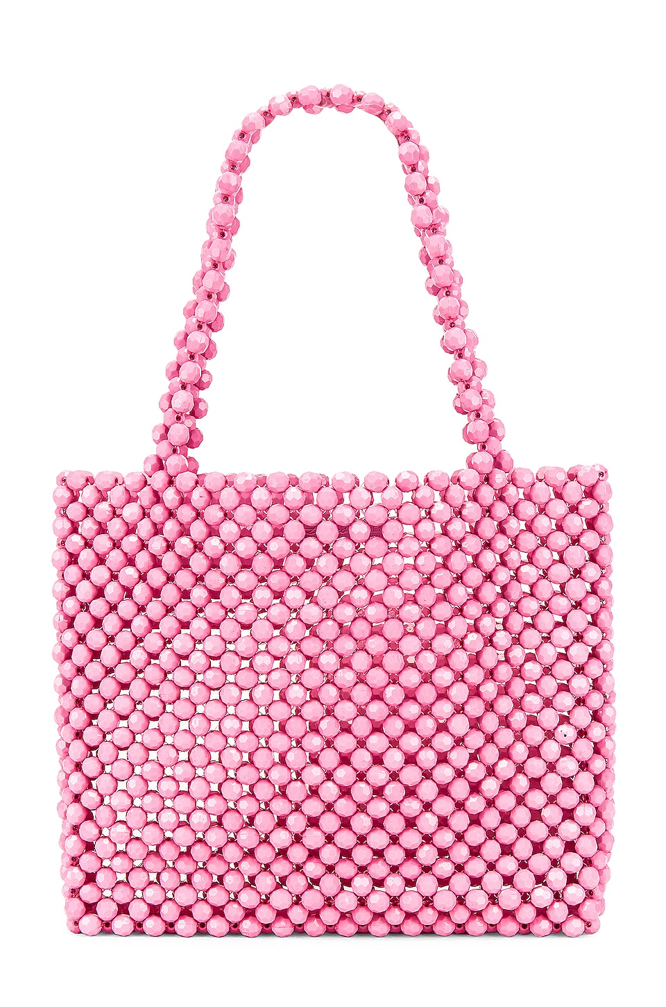 Lovers + Friends Justin Beaded Bag in Matte Pink