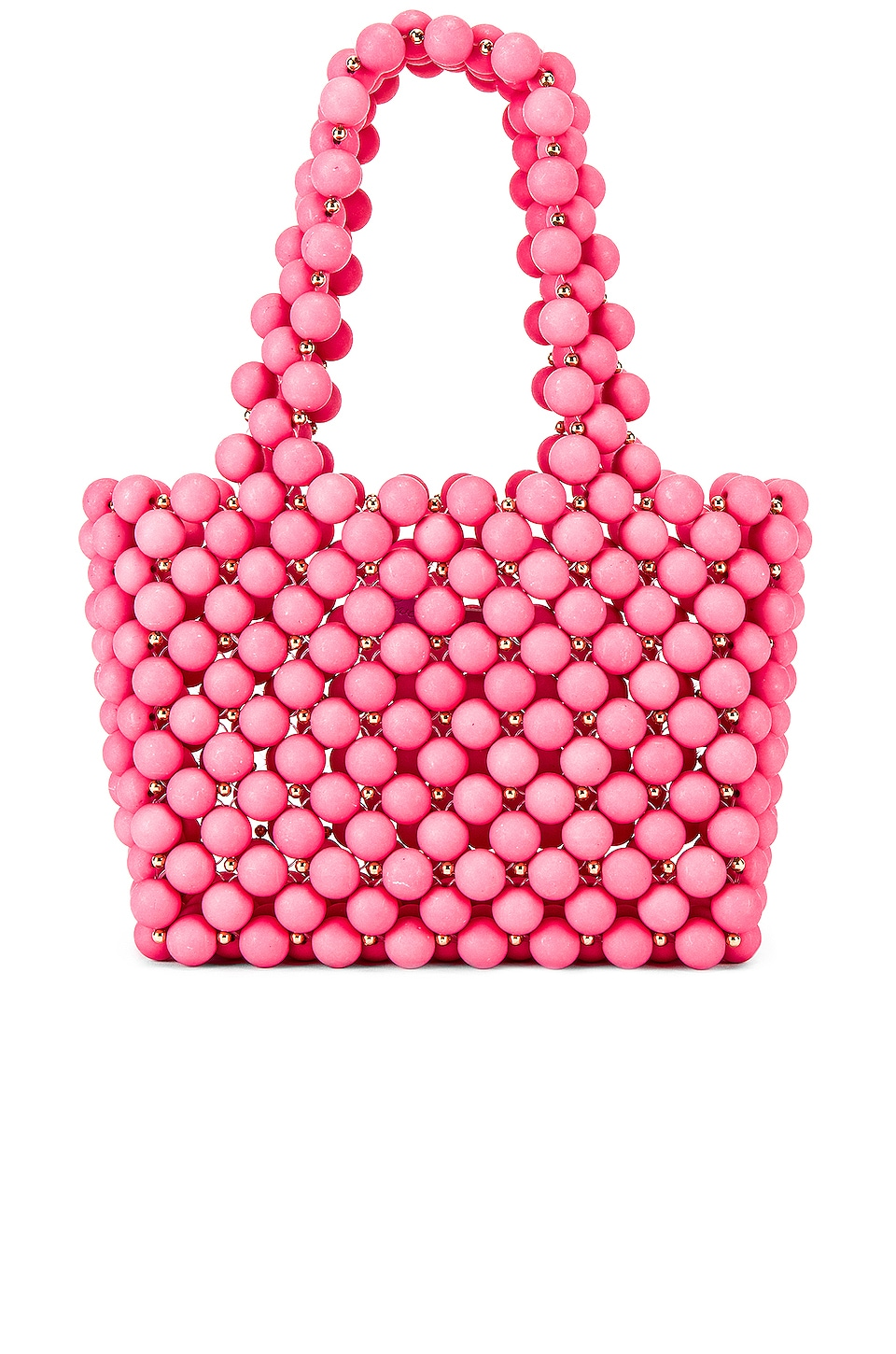 Lovers + Friends Meggy Beaded Purse in Pink