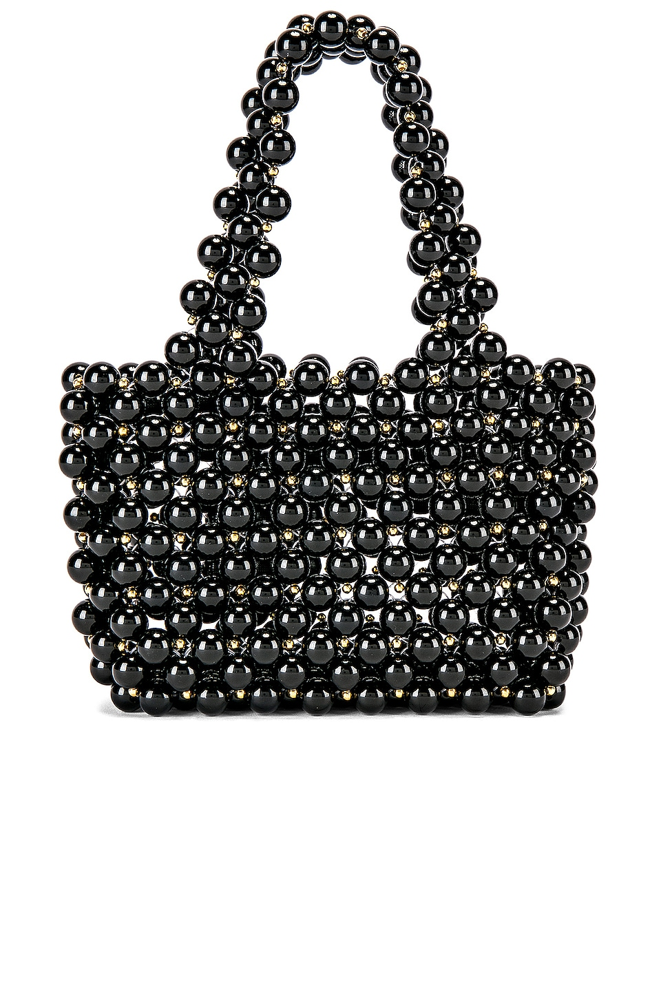 Lovers + Friends Meggy Beaded Purse in Black