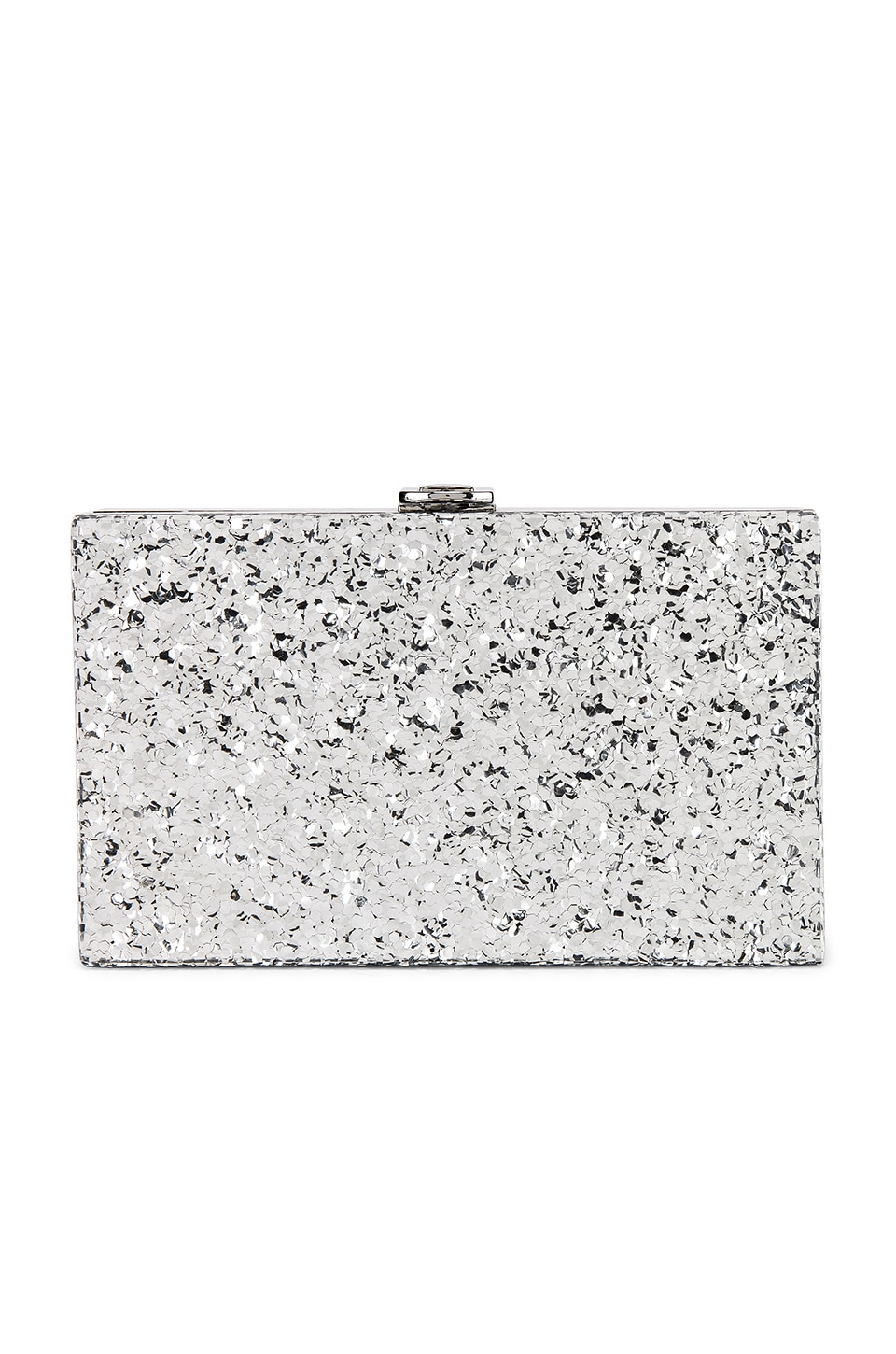 Lovers + Friends Carla Clutch in Silver Glitter