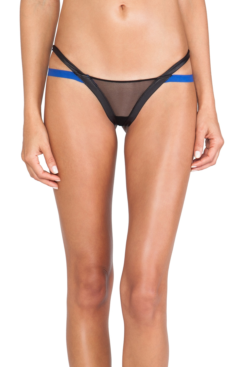 Love Haus by Beach Bunny Bounded Panty in Black