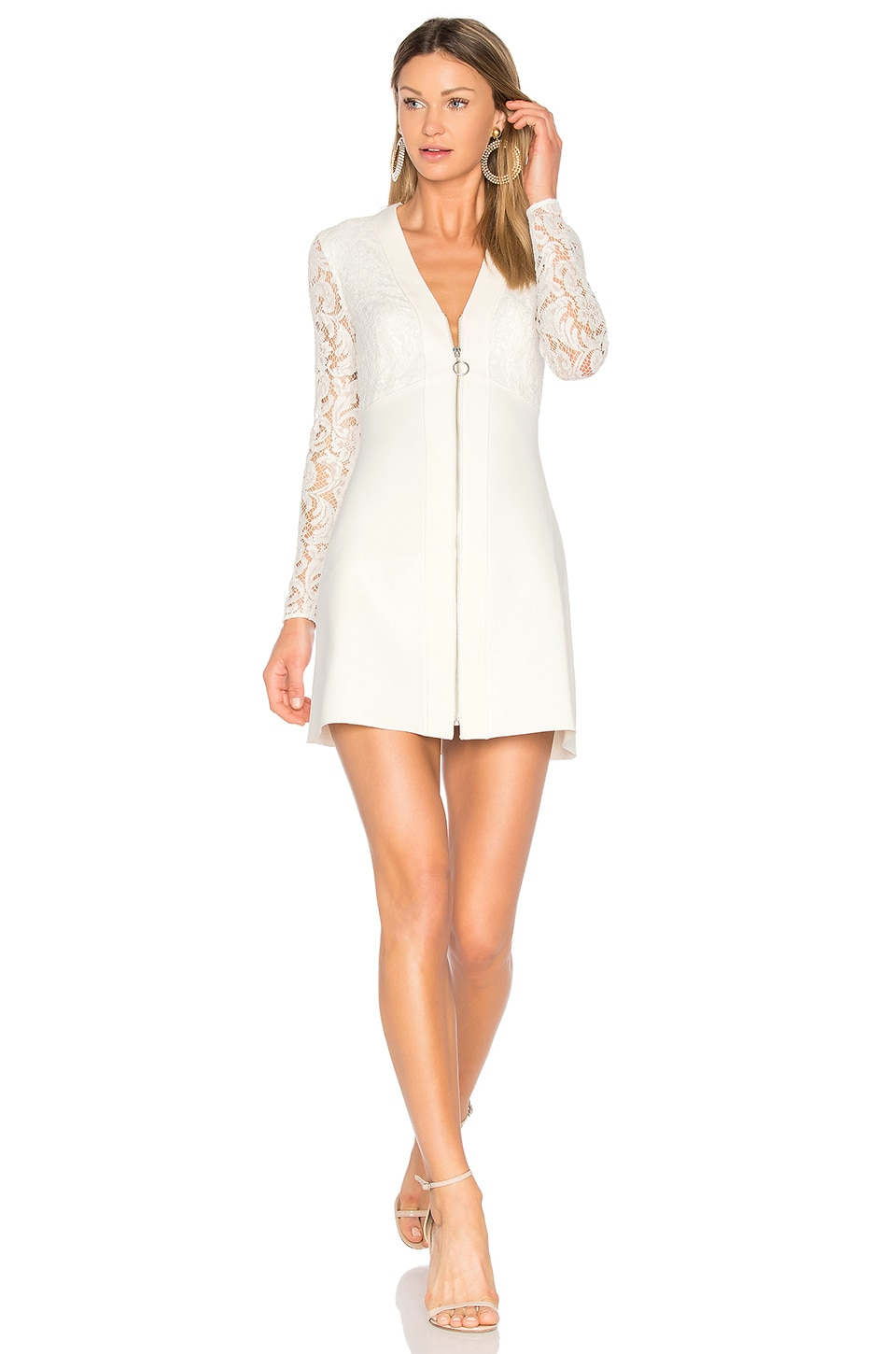 Lover Ivory Violet Mini Dress