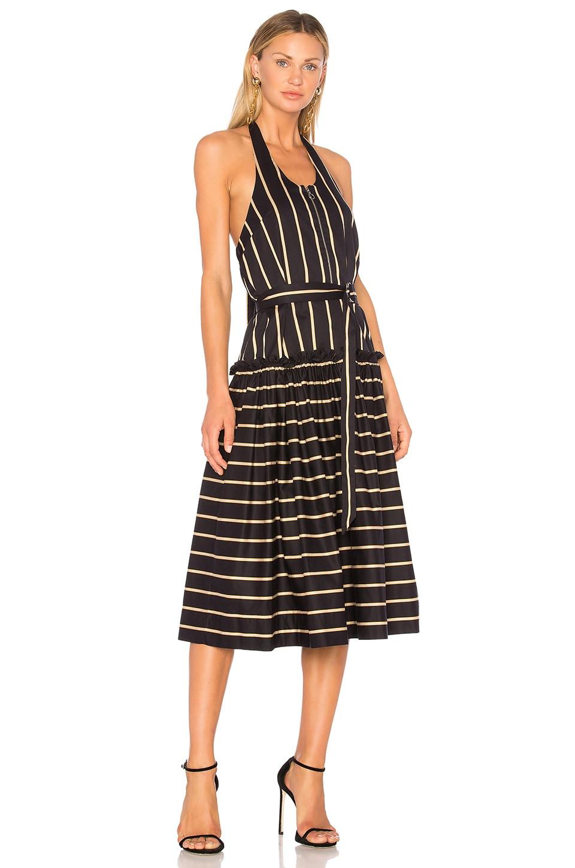 Lover Black Frame Halter Midi Dress